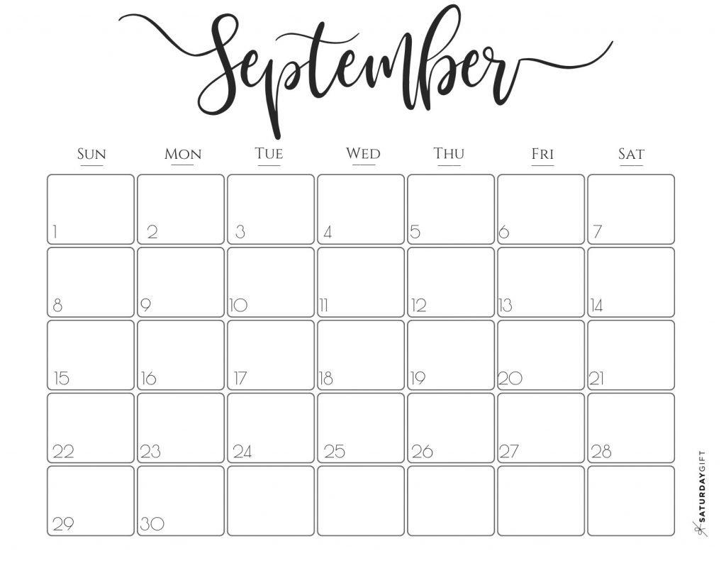 Elegant 2019 Calendar {Free Printables} | Saturdaygift Calendar 2019 Gift