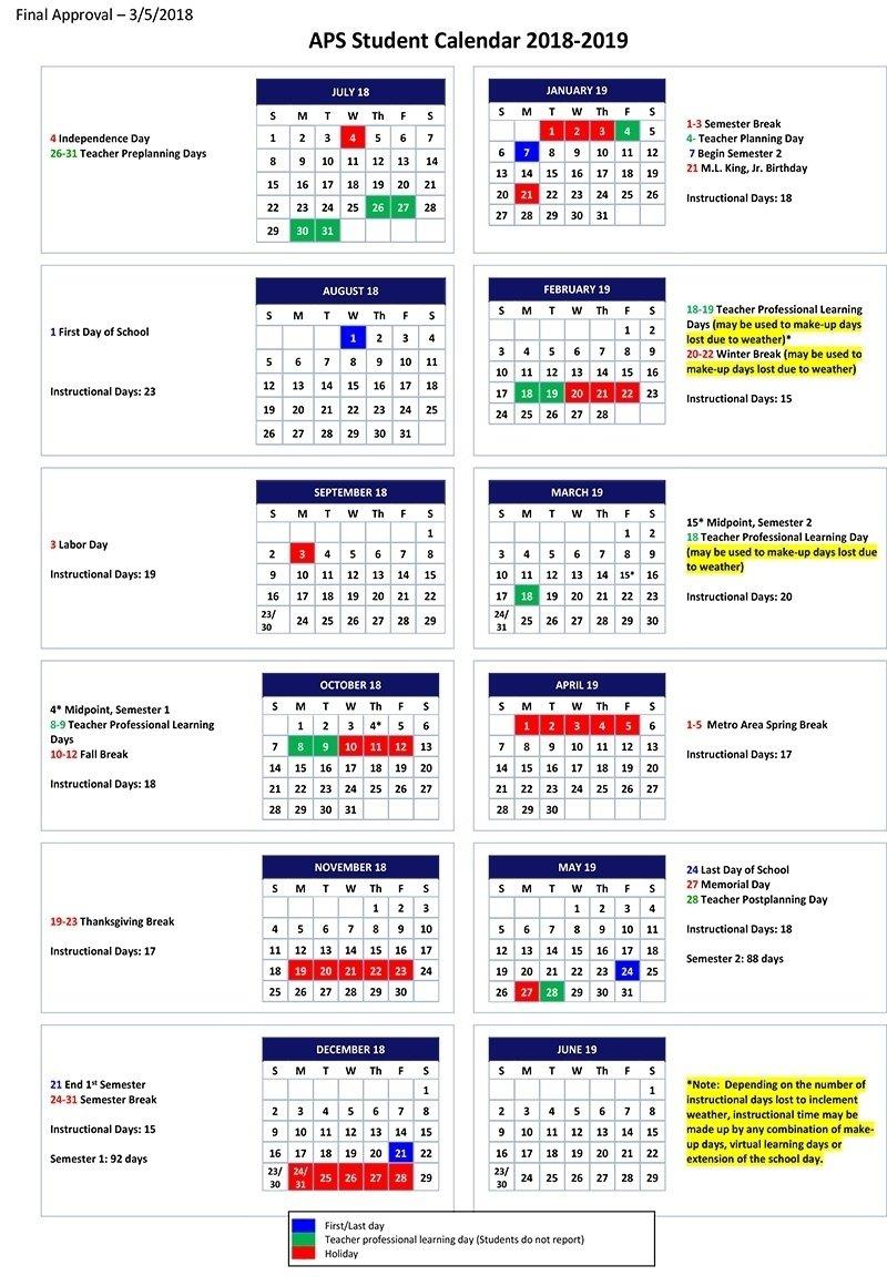 Exceptional Lexington 1 School Calendar • Printable Blank Calendar Lexington 1 Calendar 2019