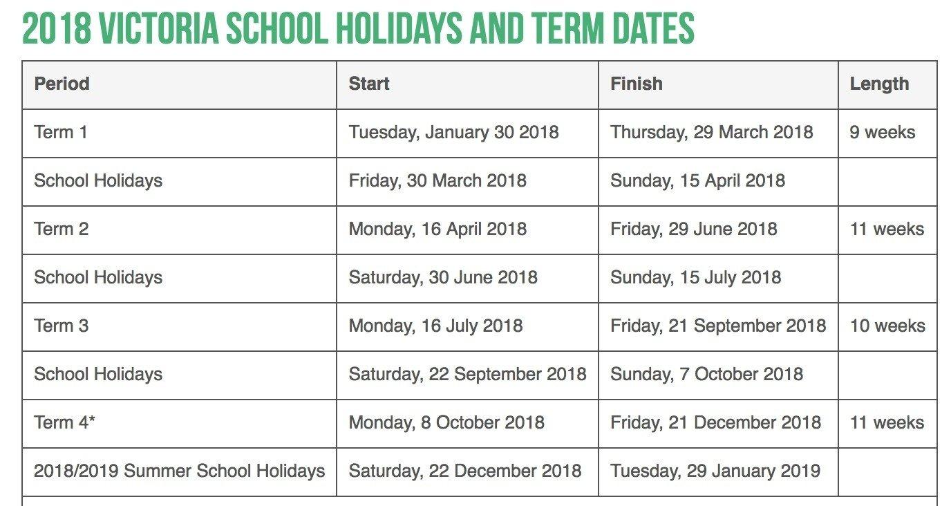 Extraordinary School Calendar Vic 2019 • Printable Blank Calendar Calendar 2019 Victoria School Holidays