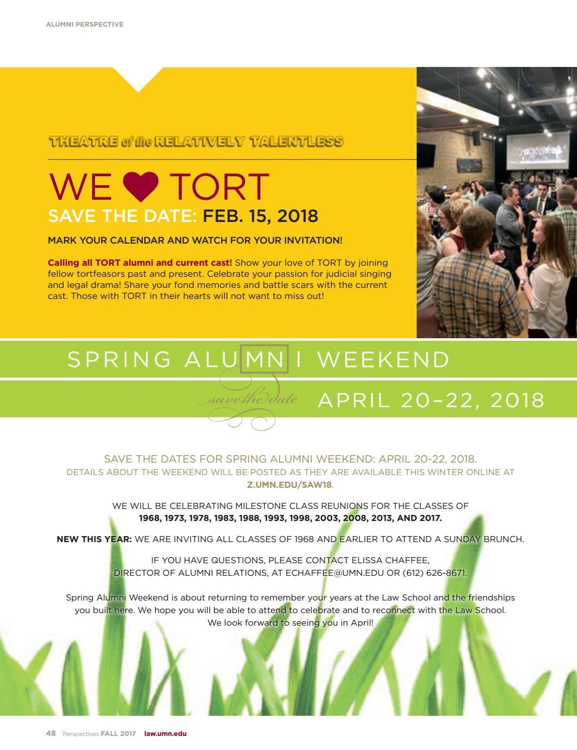 Fall 2017 Perspectivesuniversity Of Minnesota Law School – Issuu Calendar 2019 Umn