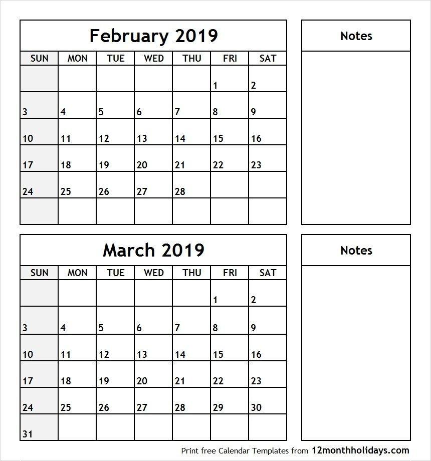 Feb And March 2019 Calendar – Icard.cmi C D&d Calendar 2019