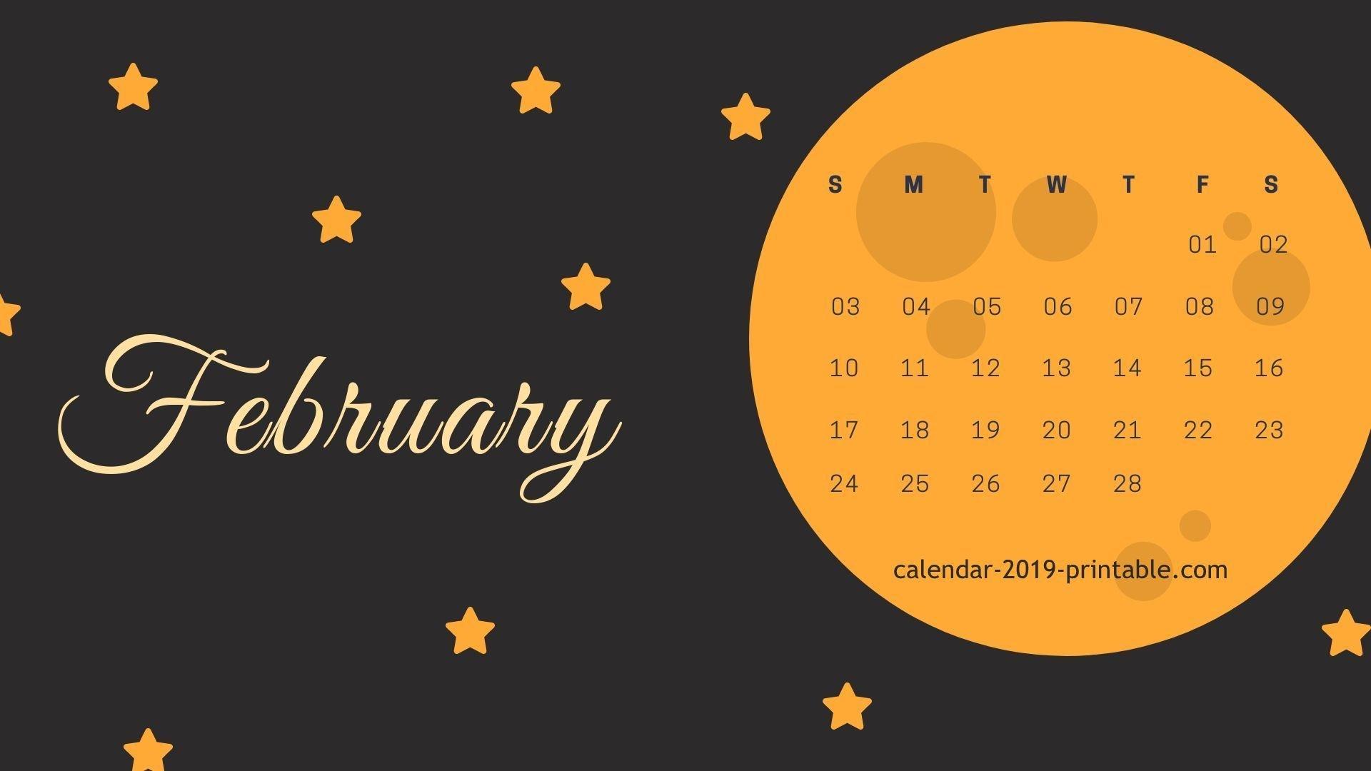 February 2019 Computer Calendar Wallpaper | 2019 Calendars In 2019 Calendar 2019 On Computer