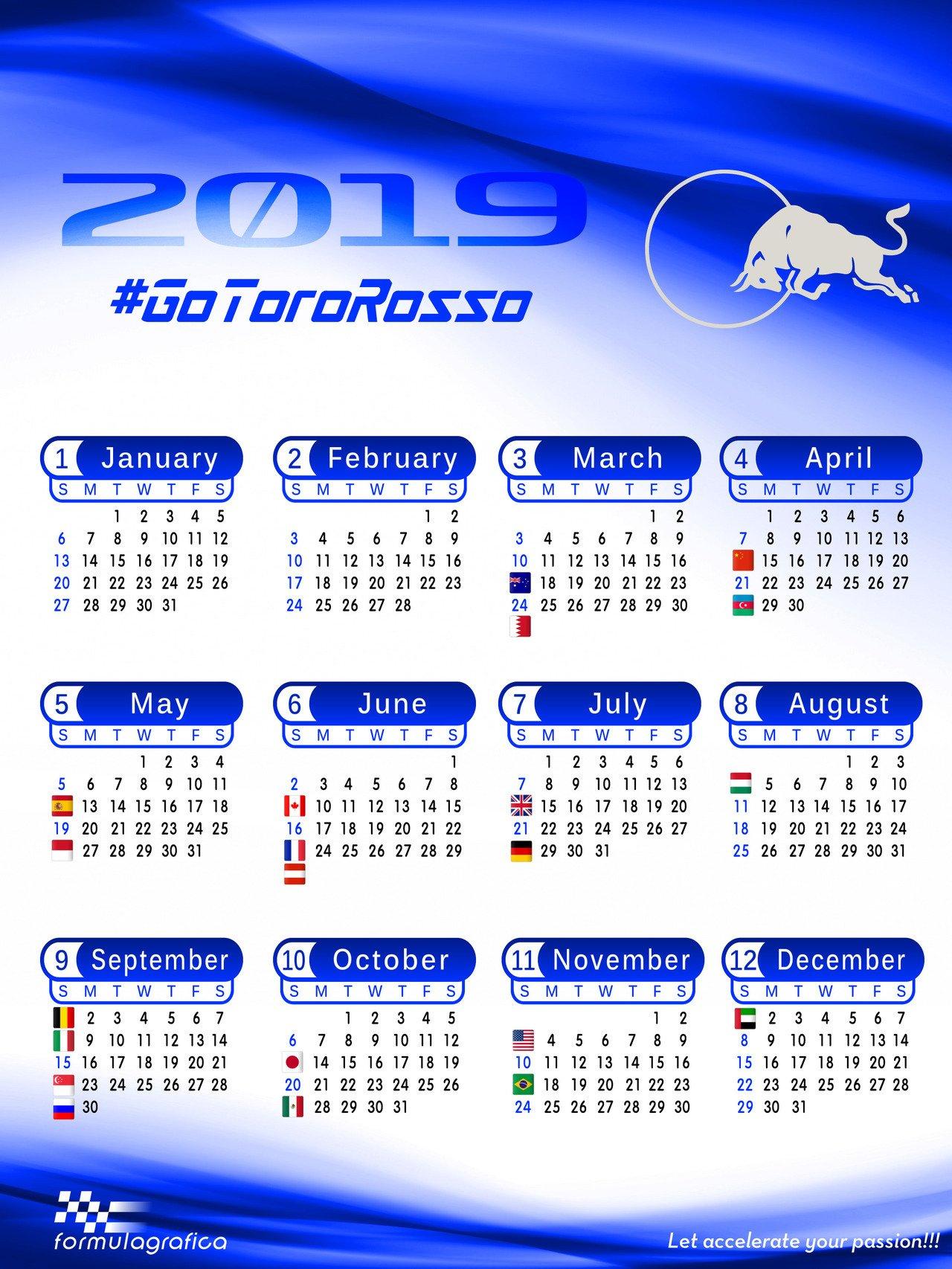 Formulagrafica — Calendar – 2019 Formula 1 Season – Scuderia Toro Formula 1 Calendar 2019 Tickets