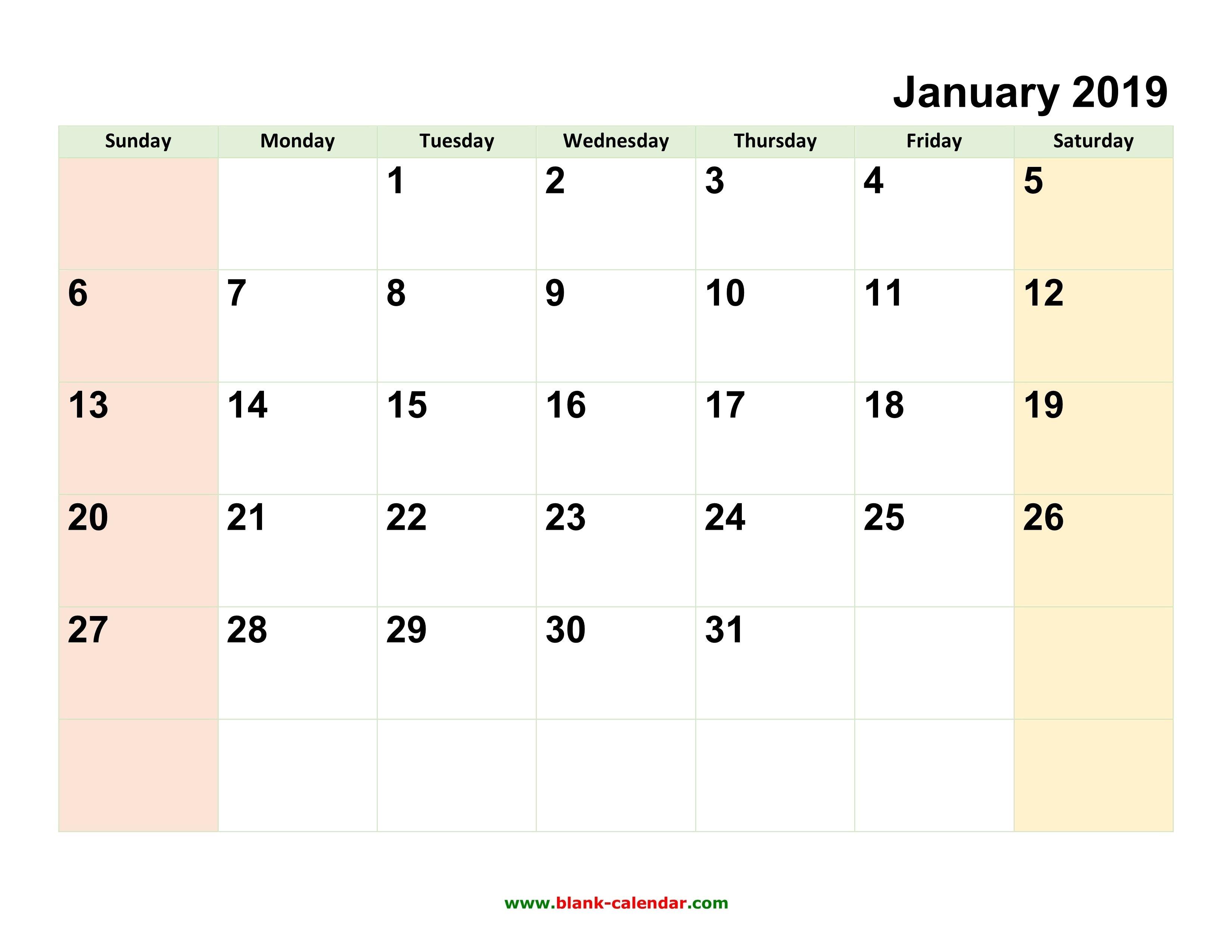 Free Fill In Calendar Templates Month | Calendar Printing Example Calendar 2019 Fill In