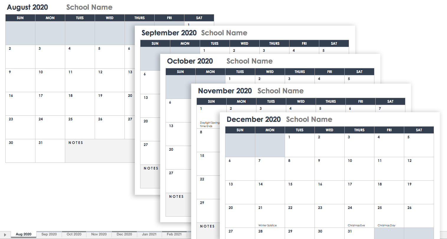 Free Google Calendar Templates | Smartsheet Calendar 2019 Spreadsheet