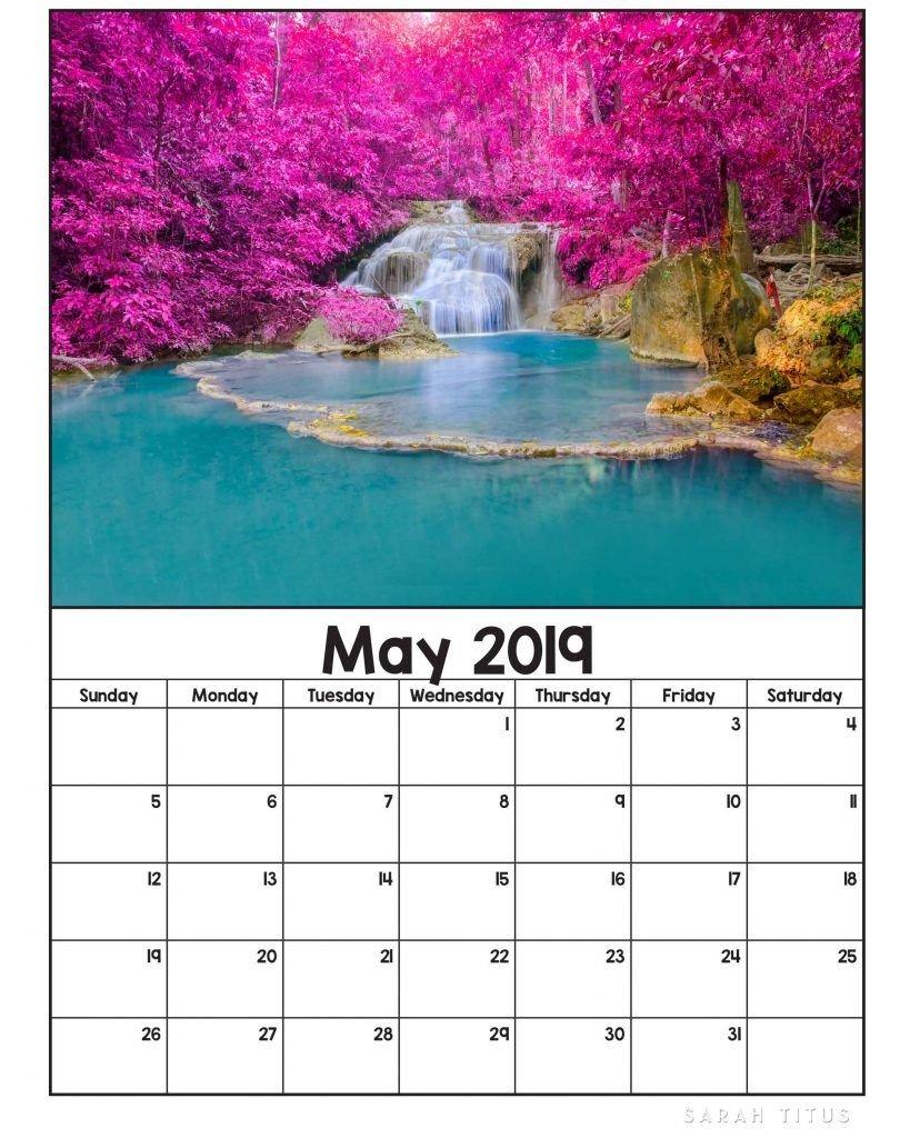 Free Printable 2019 Nature Calendars | Planner Printables | Calendar Calendar 2019 Nature