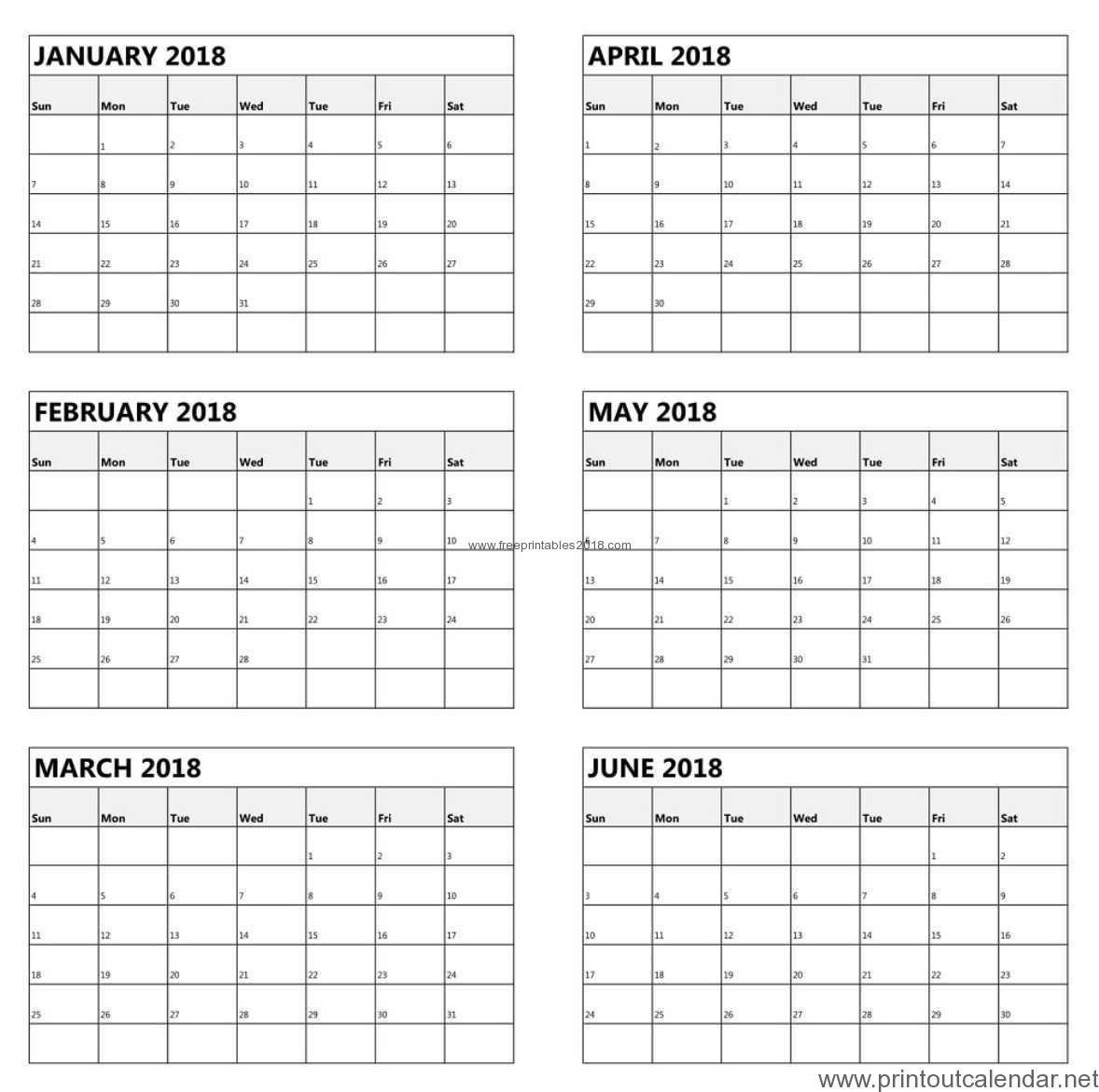 Free Printable 6 Month Calendar 2019 | Free Printables 2019 Printable Calendar 2019 6 Months