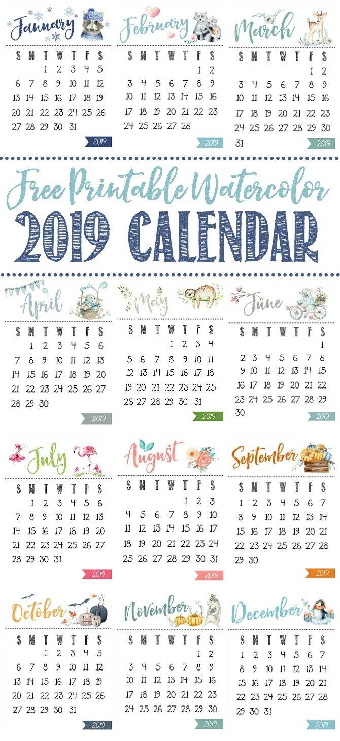 Free Printable Calendar – Clean And Scentsible Calendar 2019 Pretty