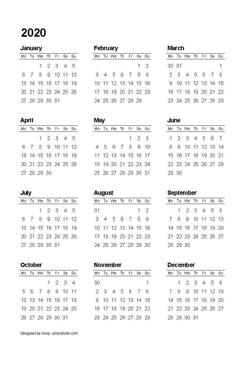 Free Printable Calendars And Planners 2019, 2020, 2021, 2022 Calendar 2019 Entire Year