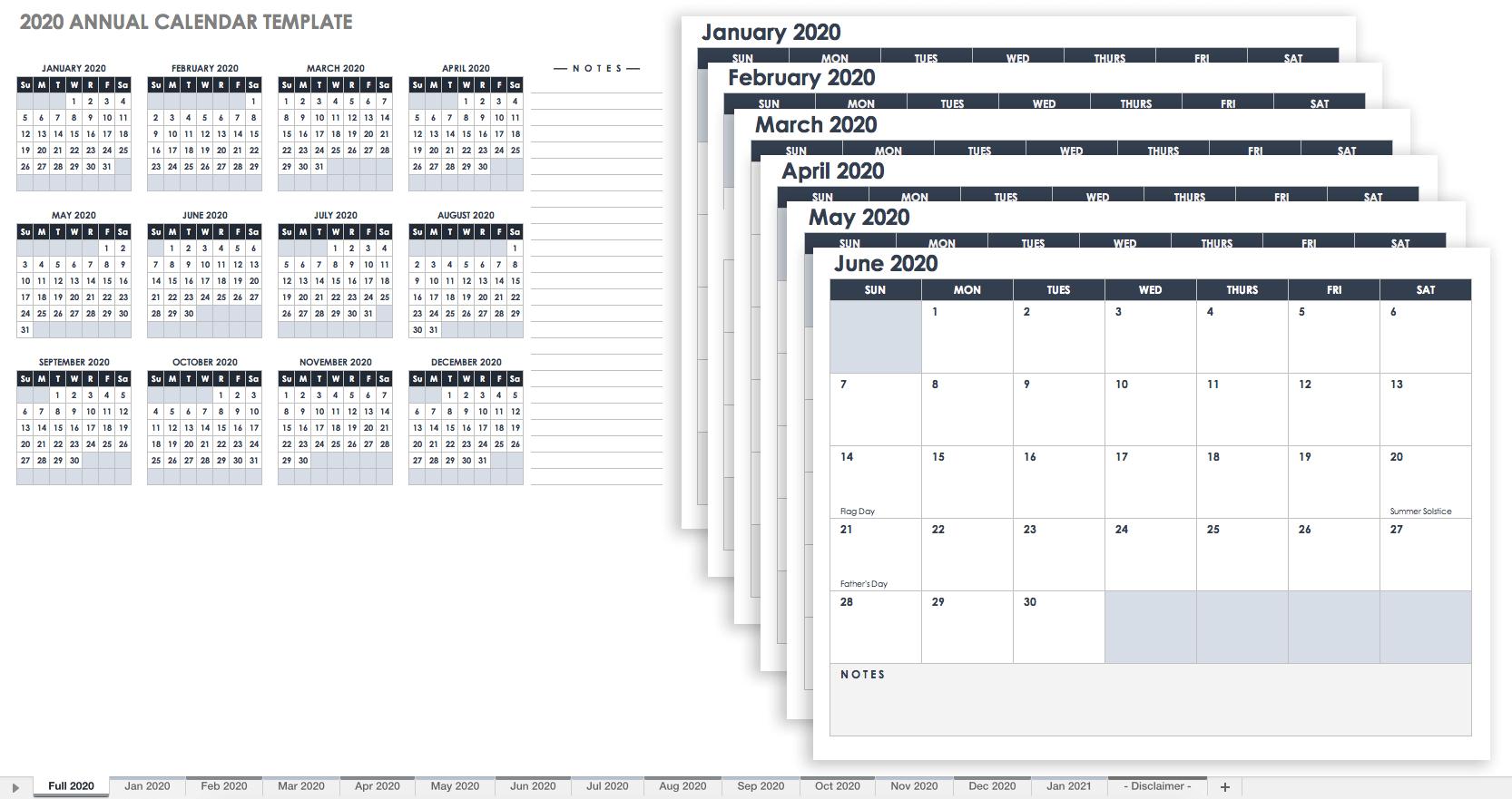 Free, Printable Excel Calendar Templates For 2019 & On   Smartsheet 5 Column Calendar 2019