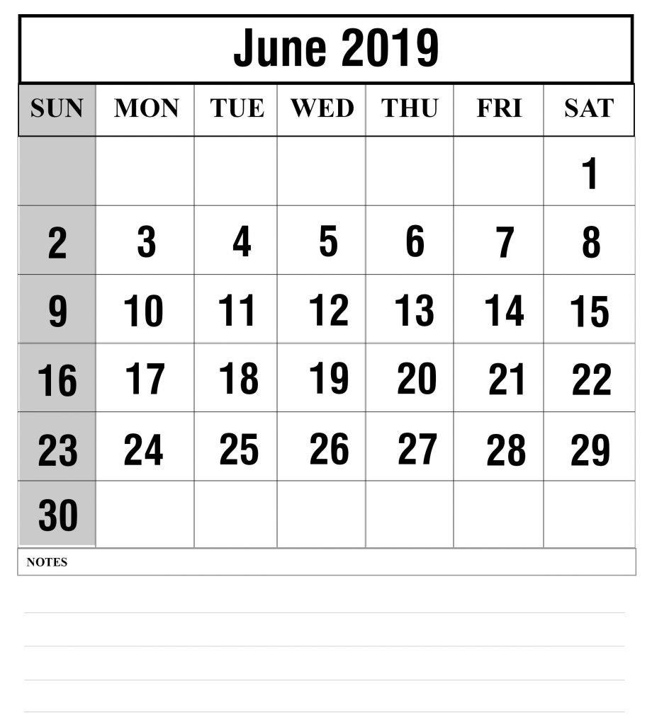 Free Printable June 2019 Calendar Template – Free Printable Calendar June 2 2019 Calendar