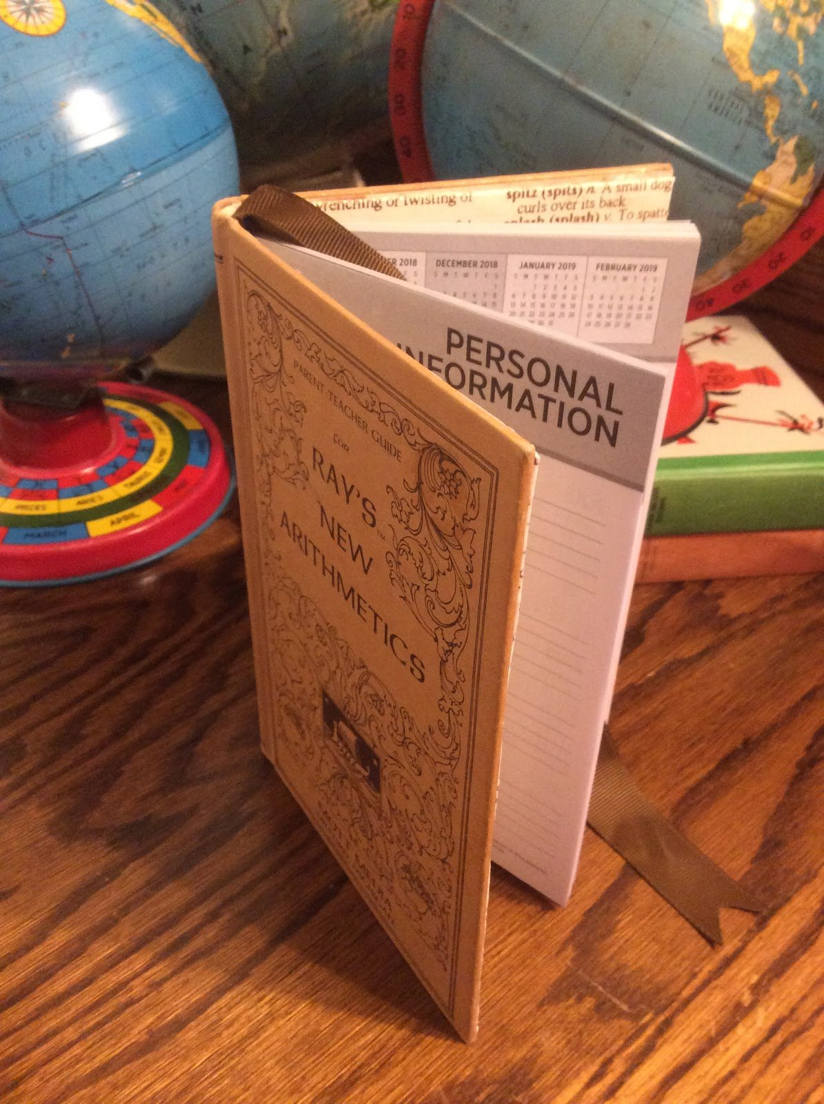 Fresh Vintagelisa S: How To Make An Altered Book Planner Calendar Calendar 2019 Dollar Tree