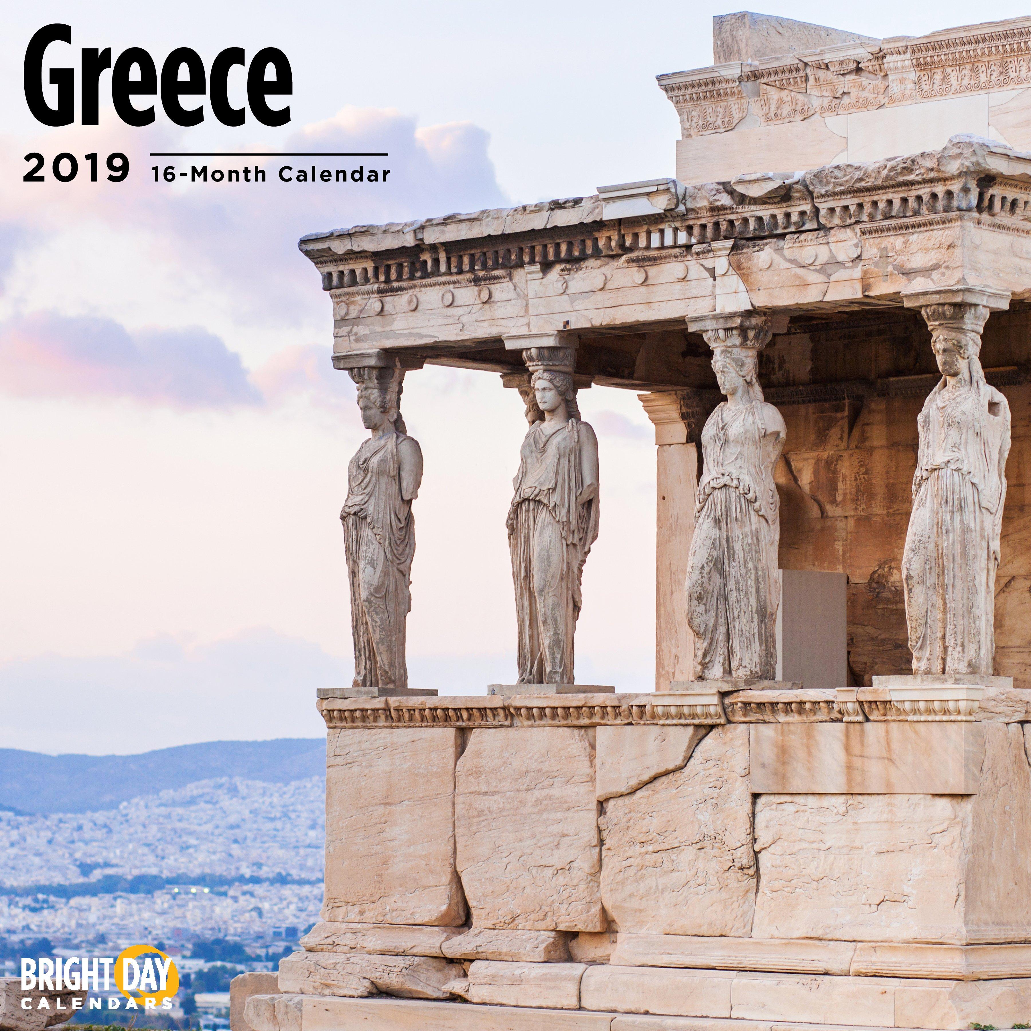 Greece 2019 Wall Calendar – Walmart Calendar 2019 Greece