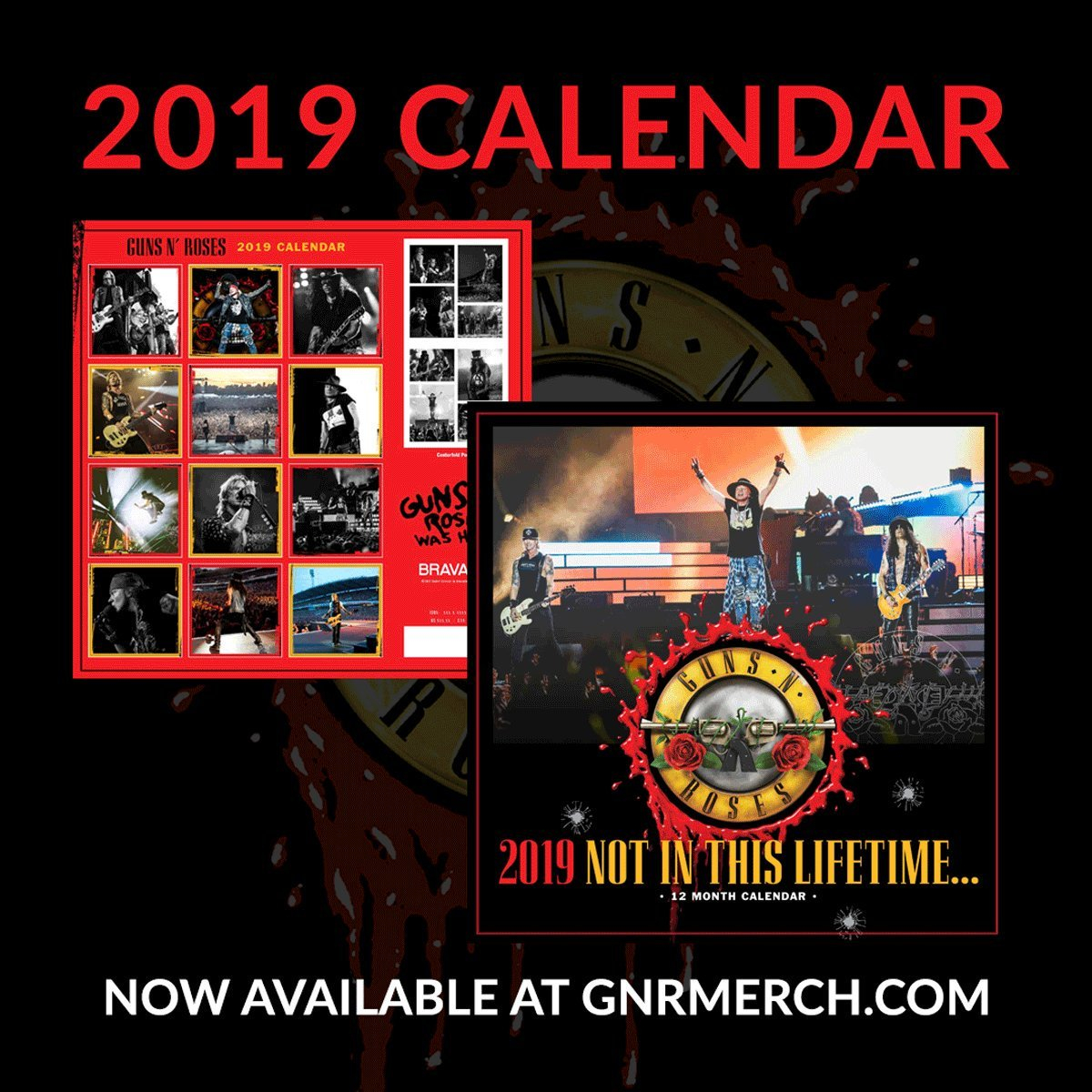 """Guns N' Roses On Twitter: """"the Official Guns N' Roses 2019 Calendar Guns N Roses Calendar 2019"""