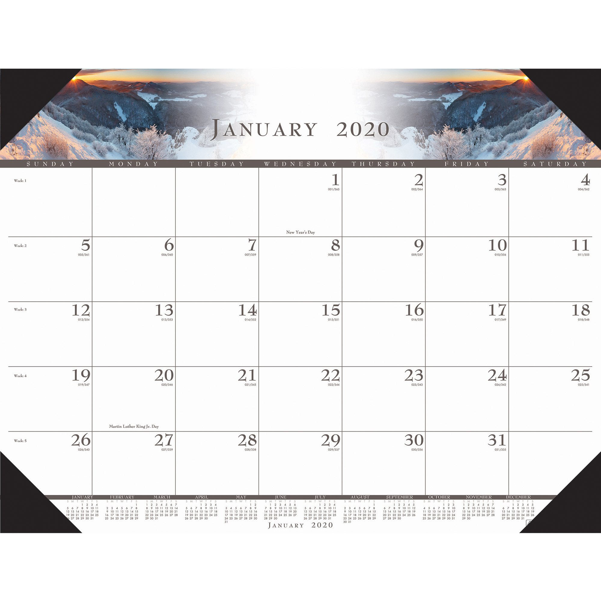 House Of Doolittle Recycled Illustrated Desk Pad Calendar – Yes – Monthly –  January 2019 Till December 2019 – 1 Month Single Page Layout – 22 X 17 – Calendar 2019 House