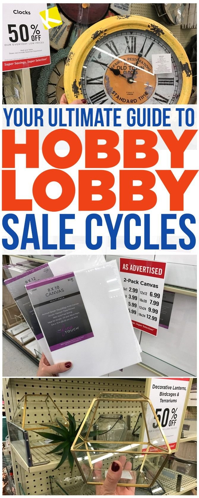 How To Know When Every Item At Hobby Lobby Goes On Sale   Store Calendar 2019 Hobby Lobby