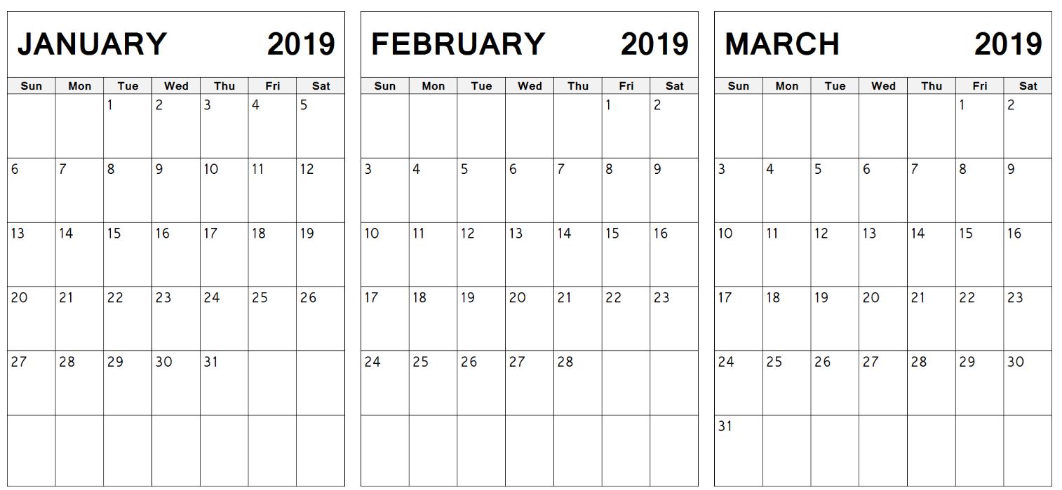 Index Of /wp Content/uploads/2019/01 Calendar 2019 Jan Feb March
