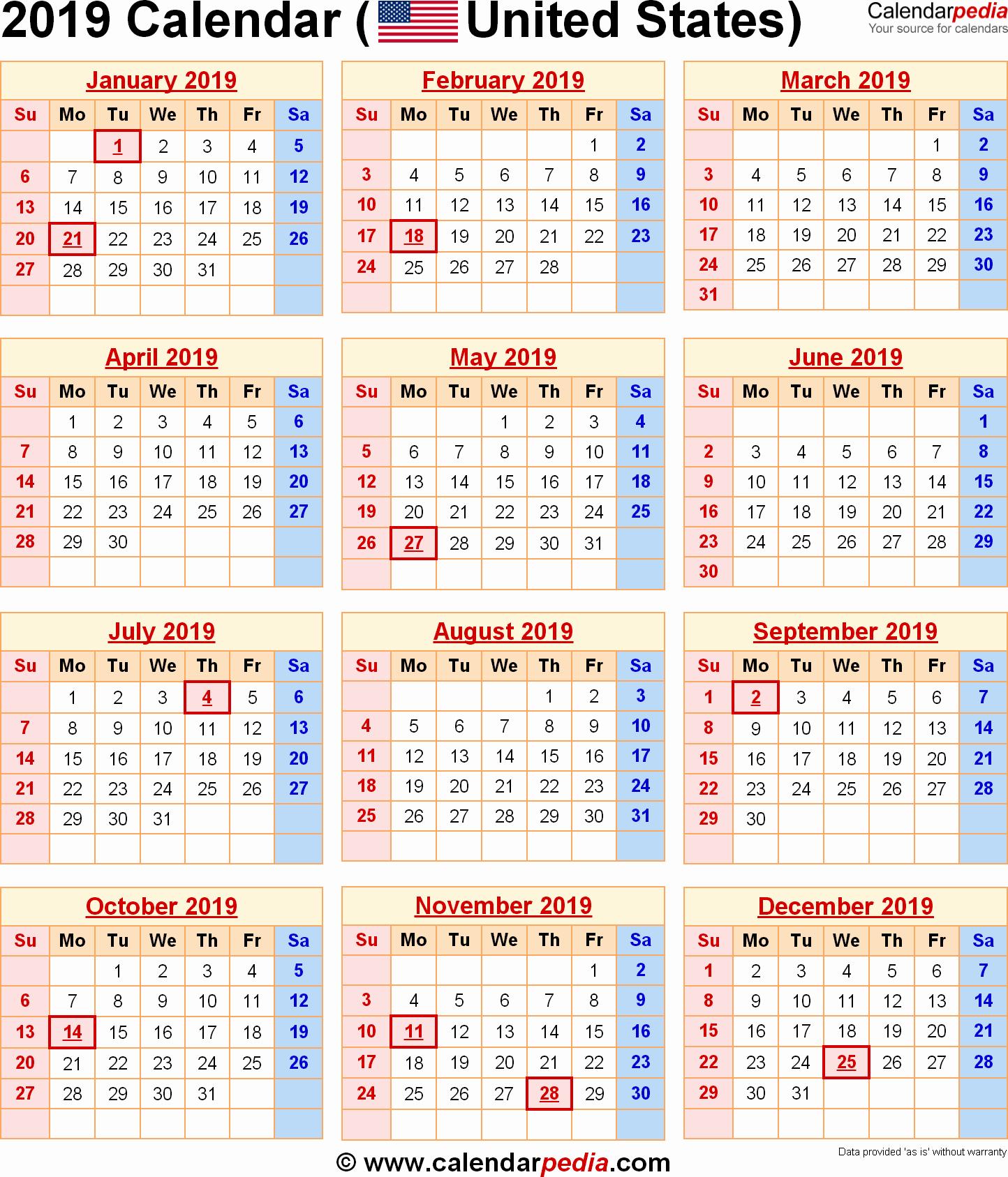 Inspirational 49 Design A Printable Dec 2019 Calendar With Holidays Calendar 2019 With Holidays Printable