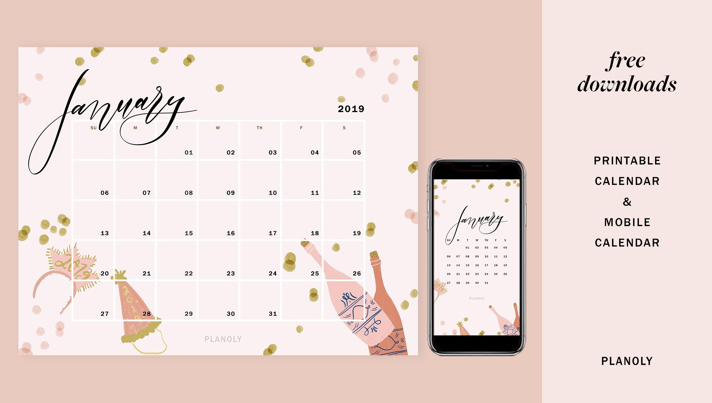January 2019 – Blog Post – Image 1 – Planoly Calendar 2019 Blog