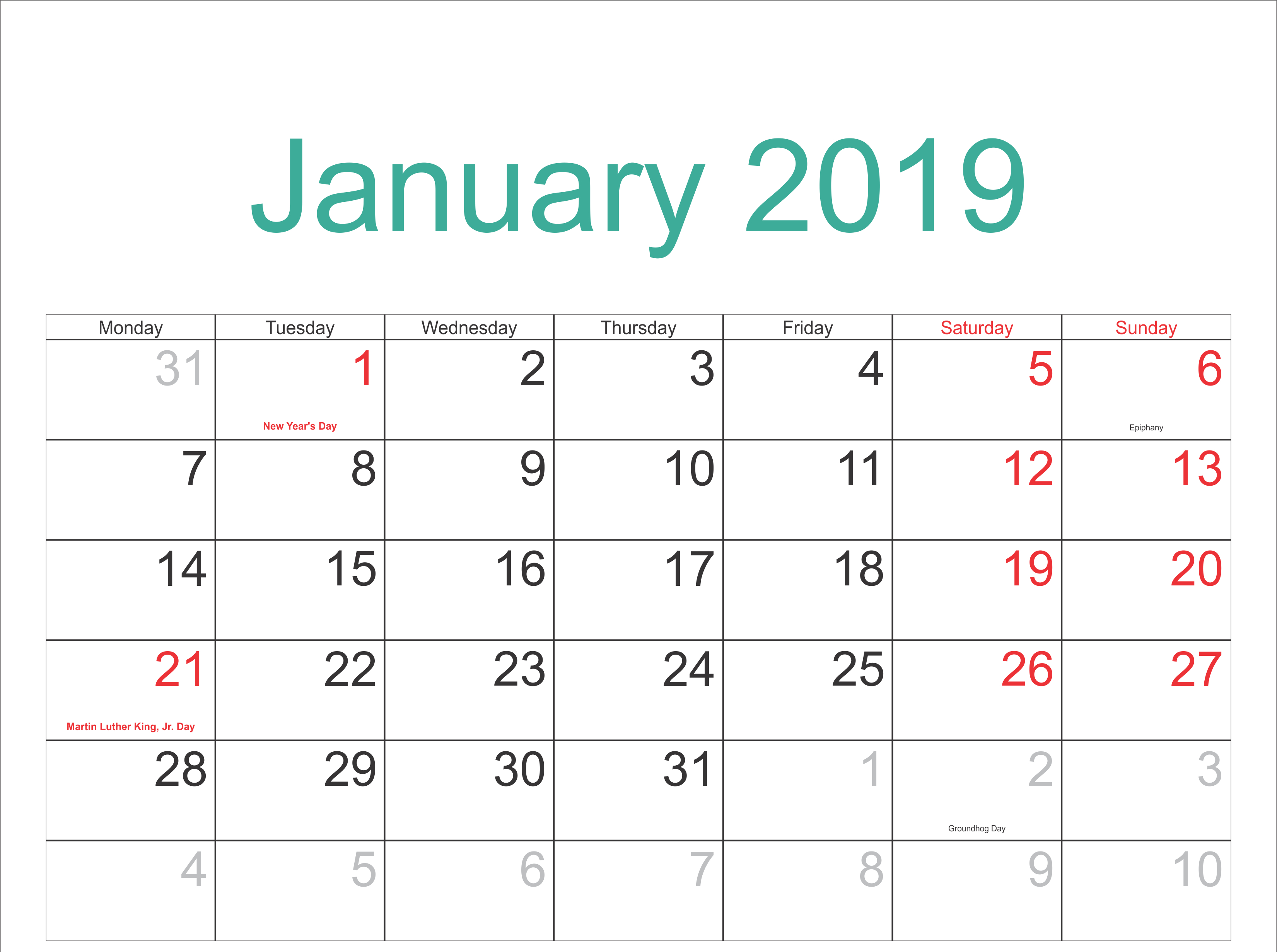 January 2019 Calendar Archives – 2019 Calendar Template Holidays 6 Nations 2019 Calendar Download