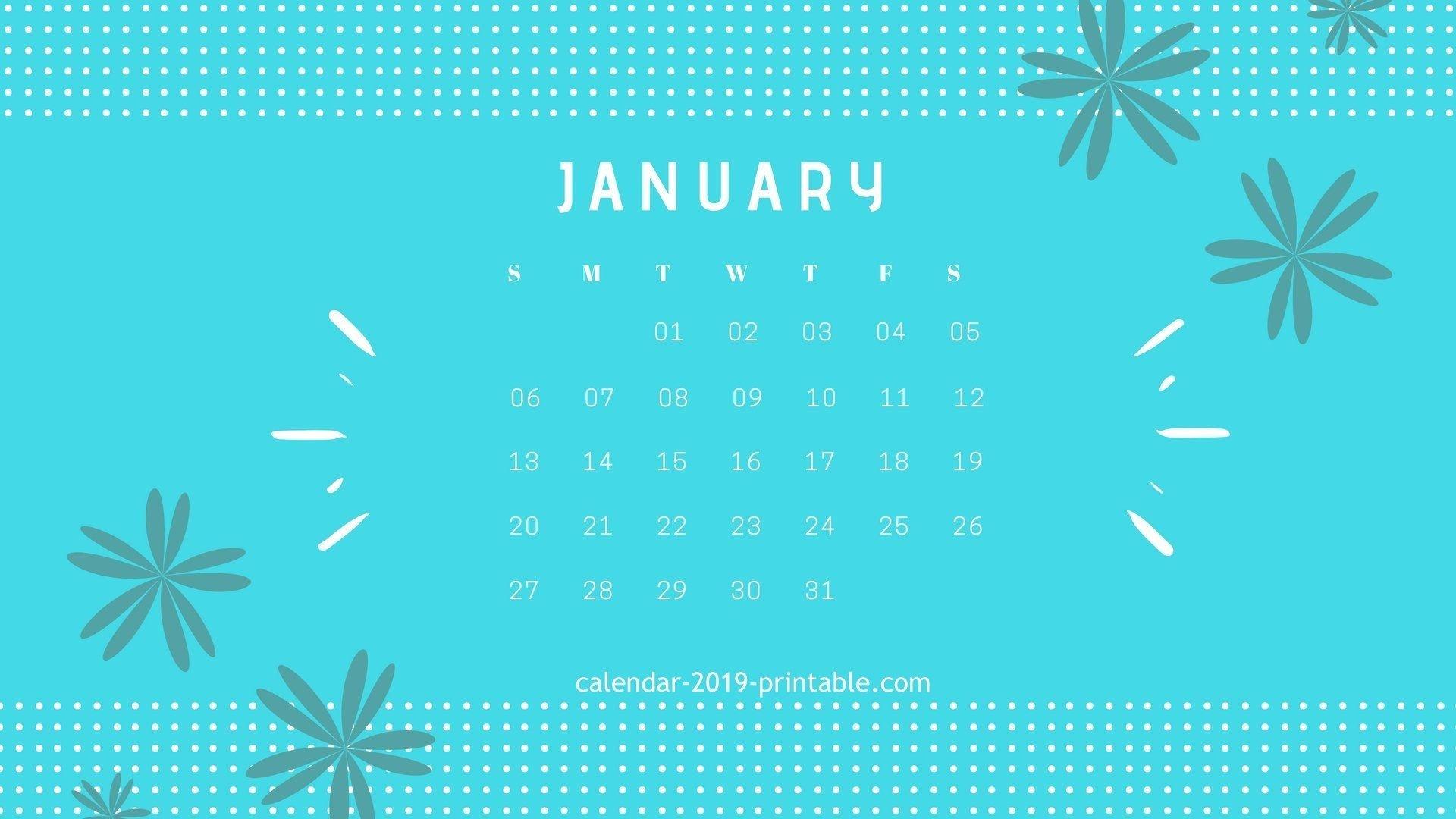 January 2019 Calendar Desktop Wallpapers Calendar 2019 Calendar 2019 On Computer