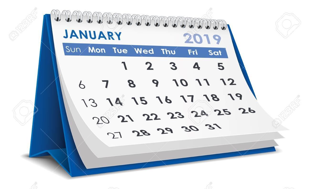 January 2019 Calendar Royalty Free Cliparts, Vectors, And Stock January 6 2019 Calendar