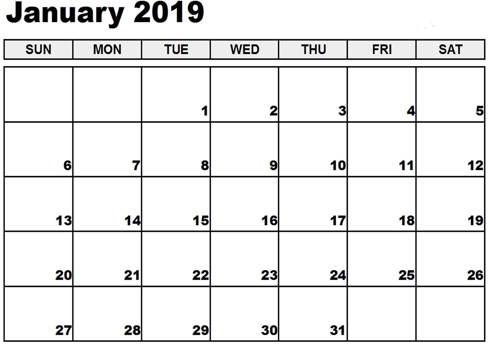 January 2019 Calendar Victoria Free Printable Words Calendar 2019 Victoria