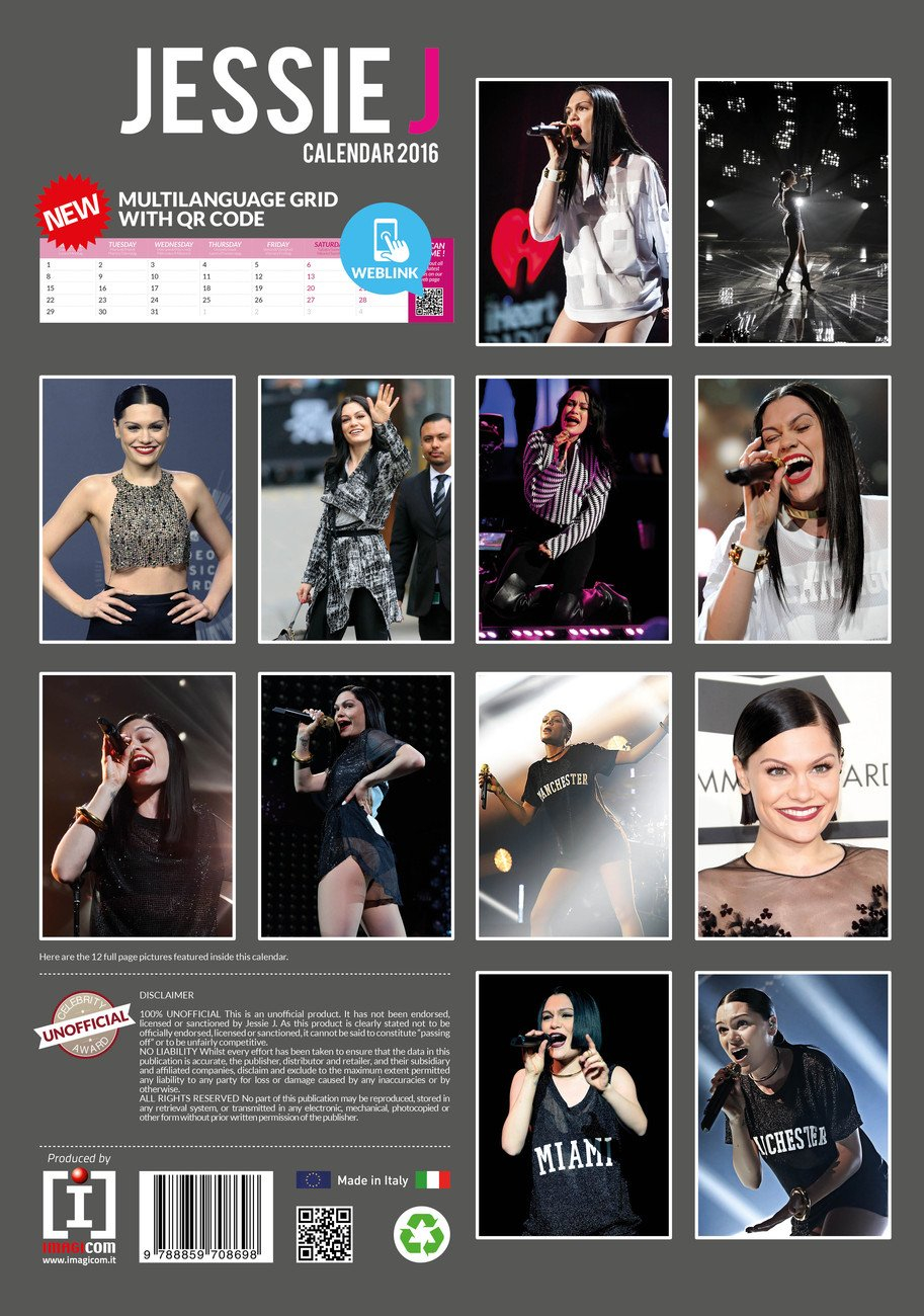 Jessie J - Calendars 2020 On Ukposters/ukposters Jessie J Calendar 2019
