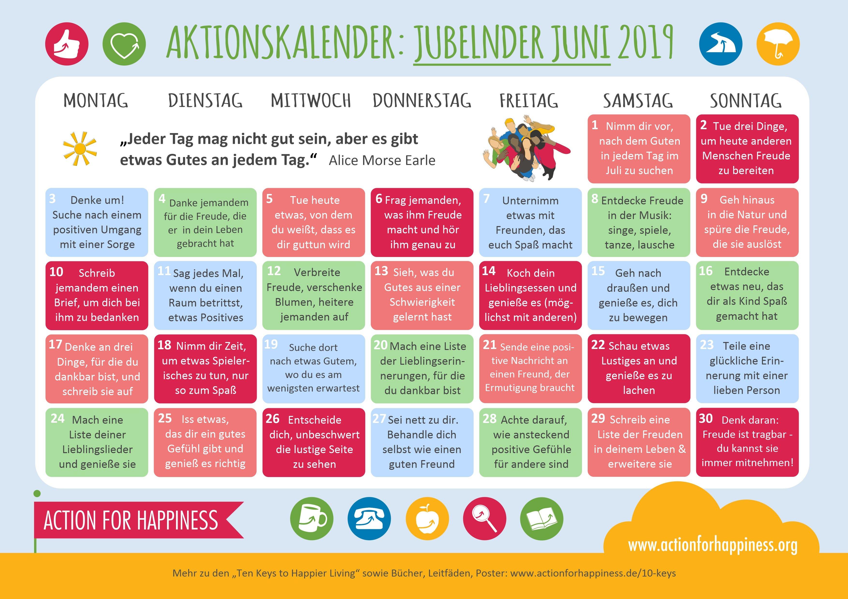 Joyful June Calendar Calendar 2019 Zu