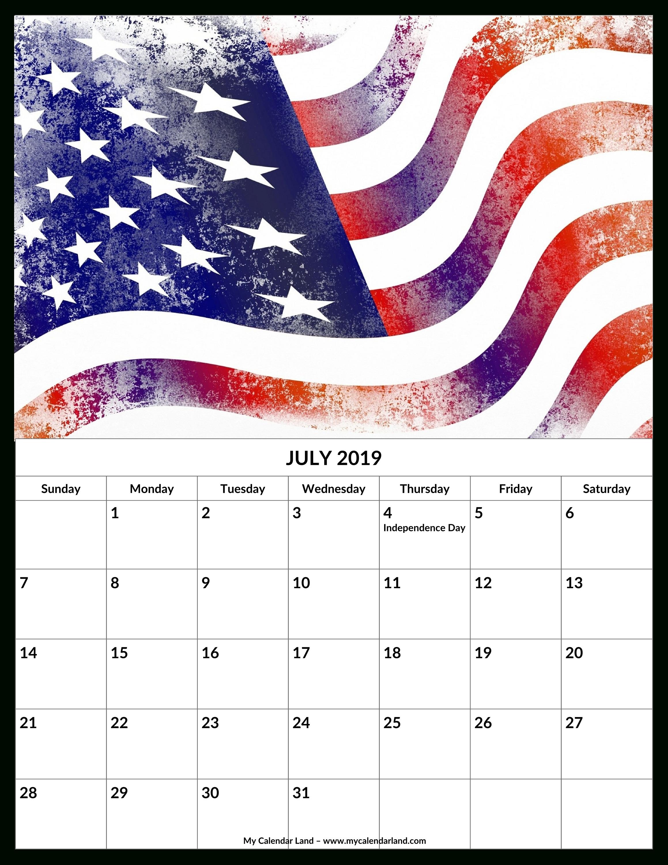 July 2019 Calendar – My Calendar Land U.s. Senate Calendar 2019