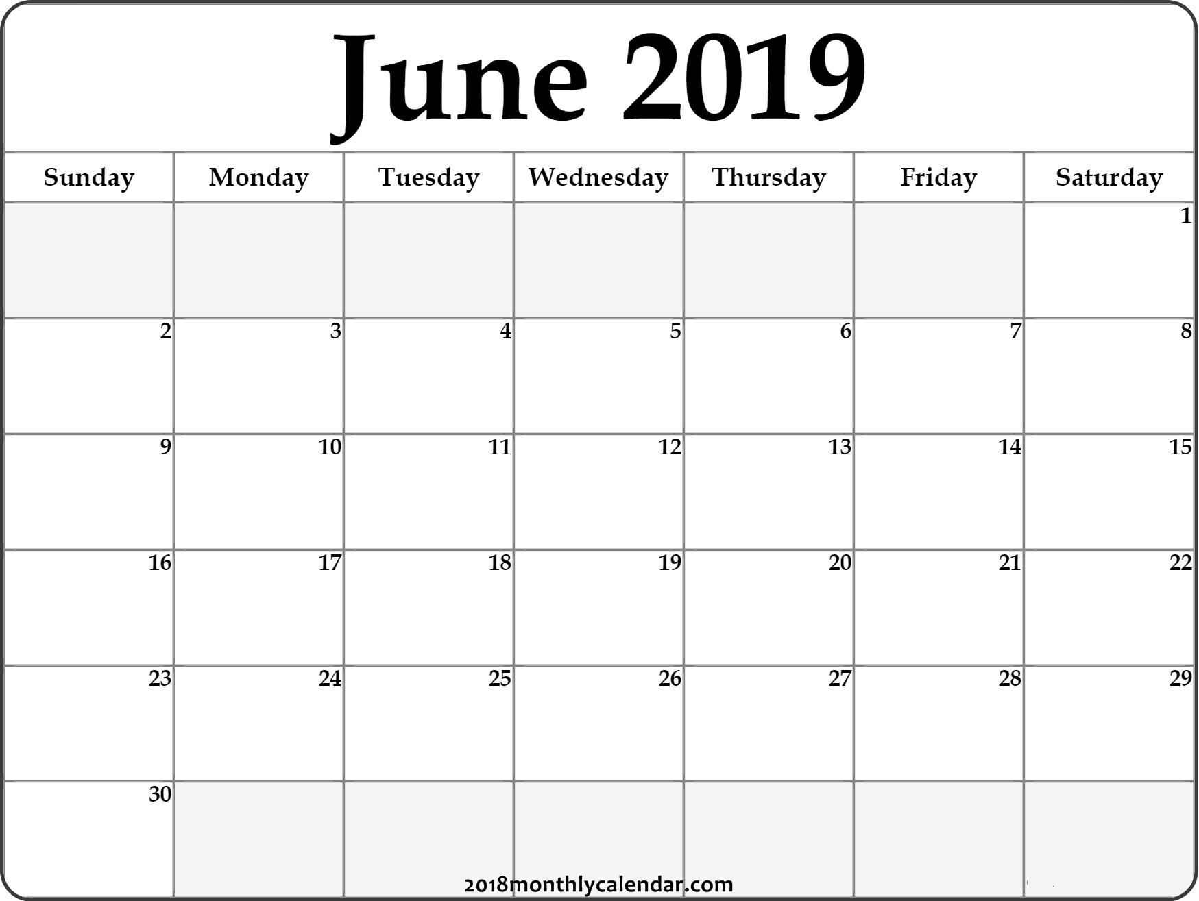 June Calendar 2019 #june #2019Calendar #june2019 #junecalendar Calendar Of 2019 June