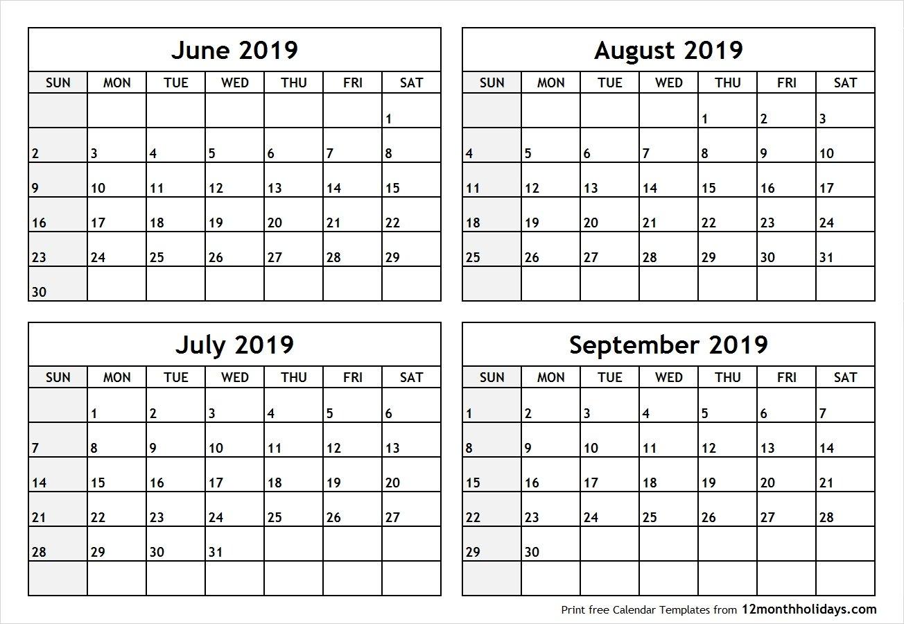 June July 2019 Calendar Printable Template Free Download – July 2019 Calendar 2019 June July