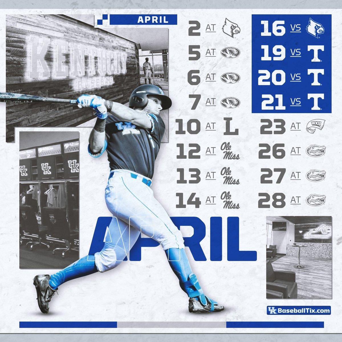 """Kentucky Baseball On Twitter: """"mark Your Calendar #bbn, The 2019 Bb&n Calendar 2019"""