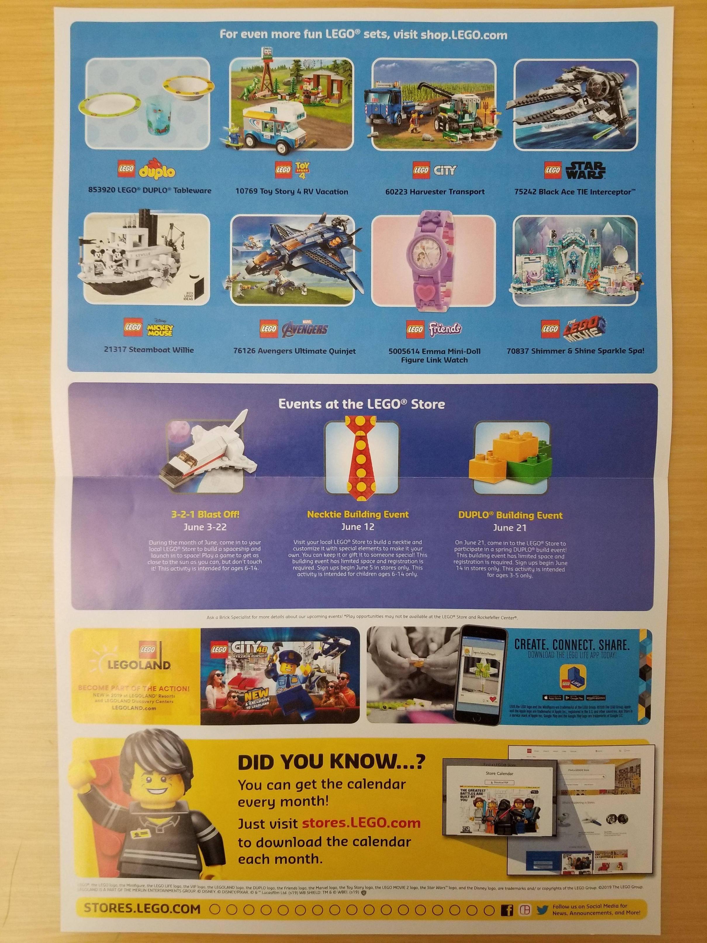 Lego June 2019 Store Calendar Events – The Brick Fan Calendar 2019 In Stores
