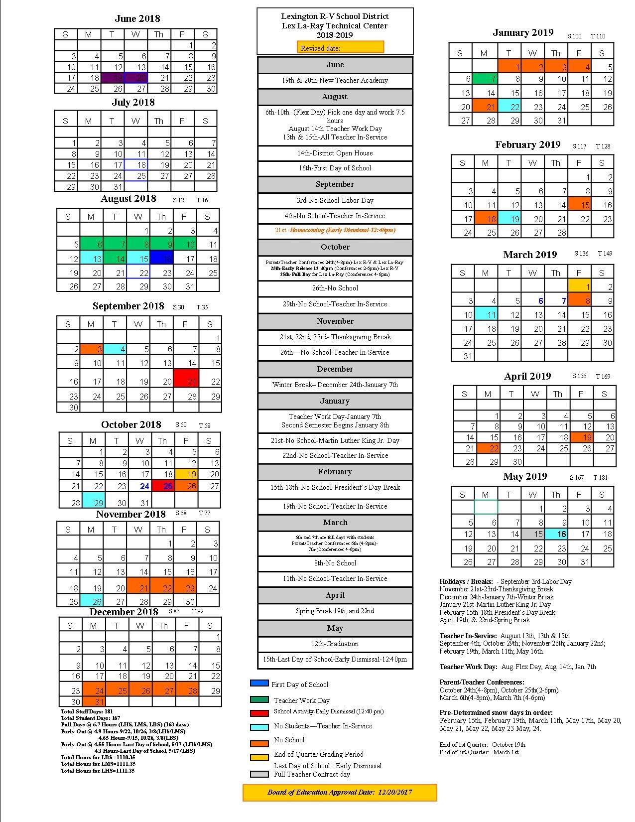 Lexington School District Calendar 2019 – Publicholidays Lexington 1 Calendar 2019