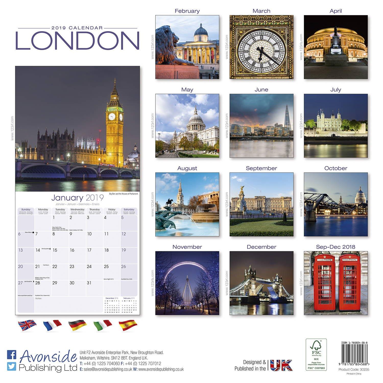 London Calendar 2019 | Pet Prints Inc. Calendar 2019 London