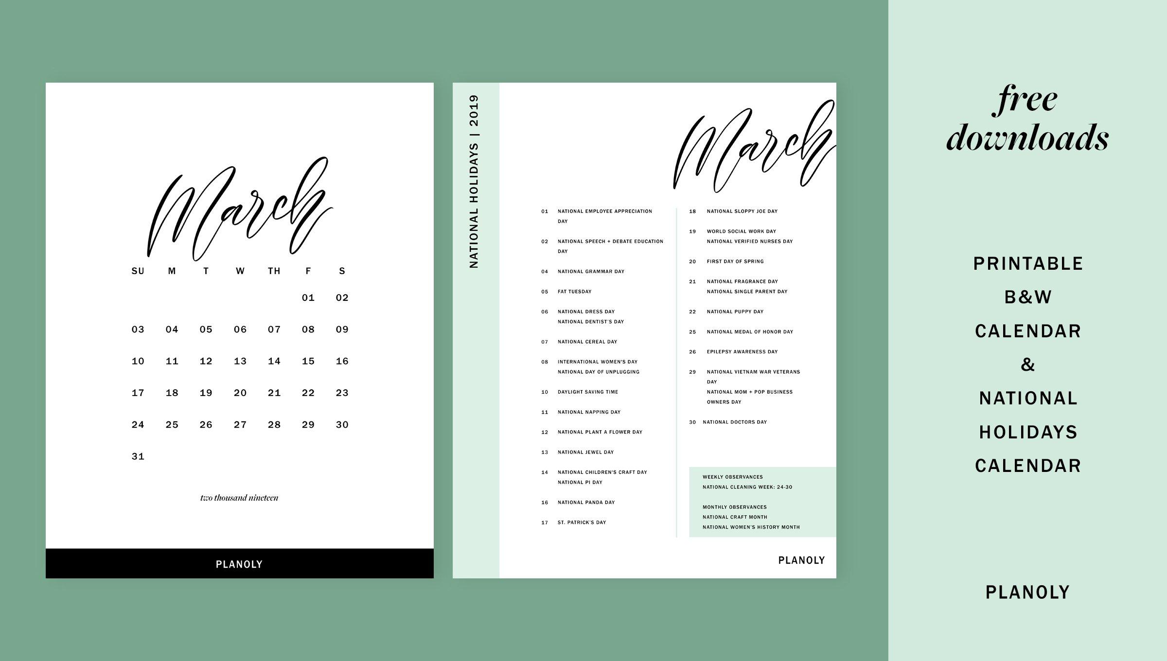 March 2019 – Blog Post – Image 2 – Planoly Calendar 2019 Blog