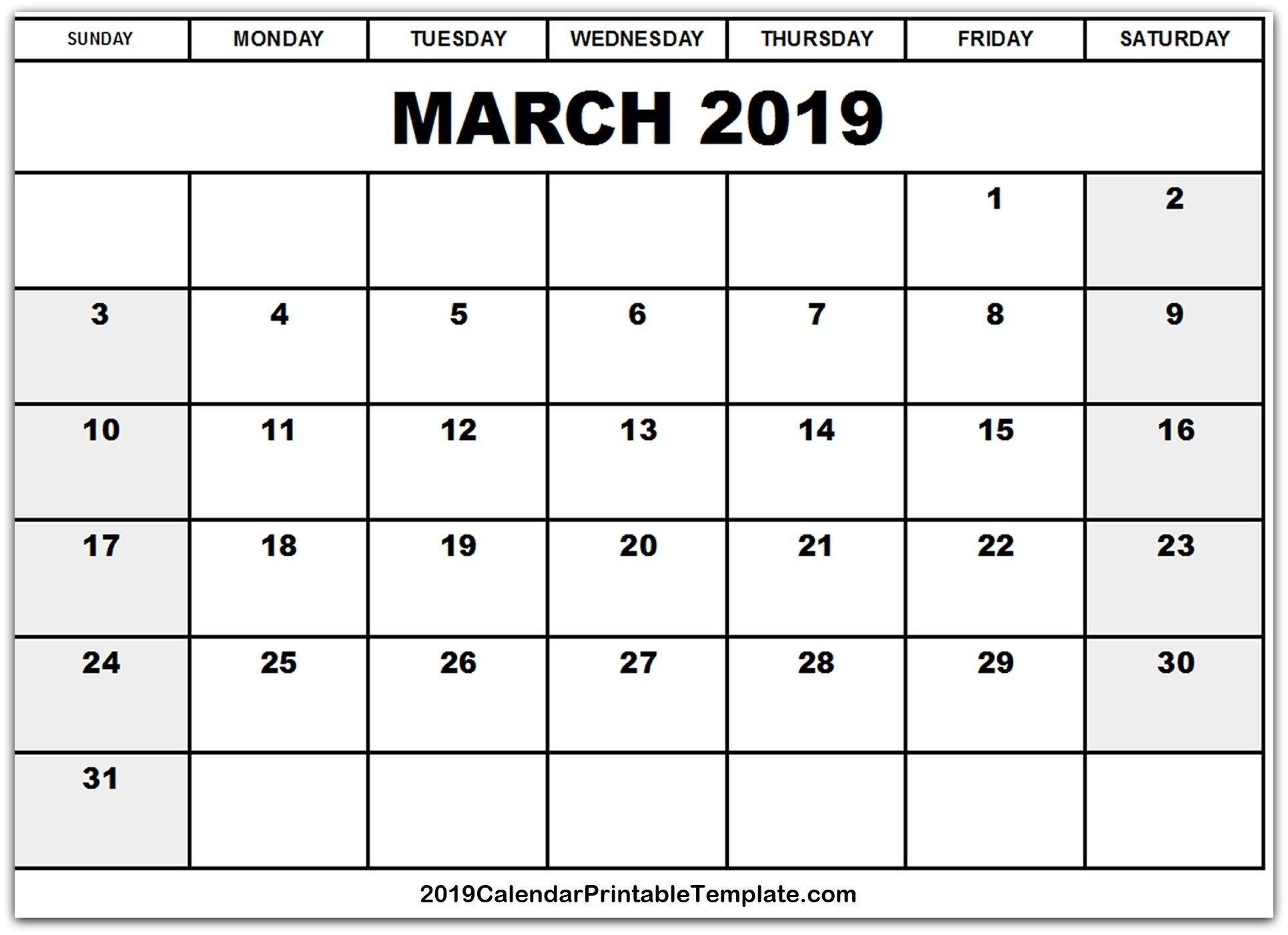 March 2019 Calendar Excel | March 2019 Calendar Printable Templates Calendar 2019 Excel South Africa