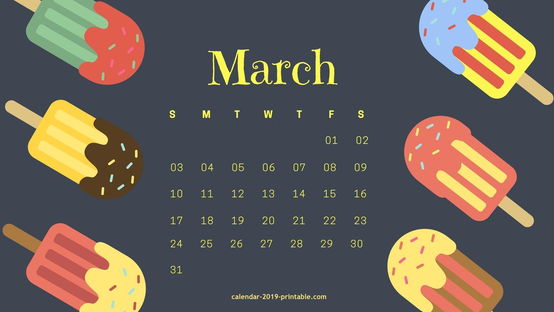 March 2019 Desktop Background Calendar | Calendar 2019 Wallpapers In Calendar 2019 On Computer