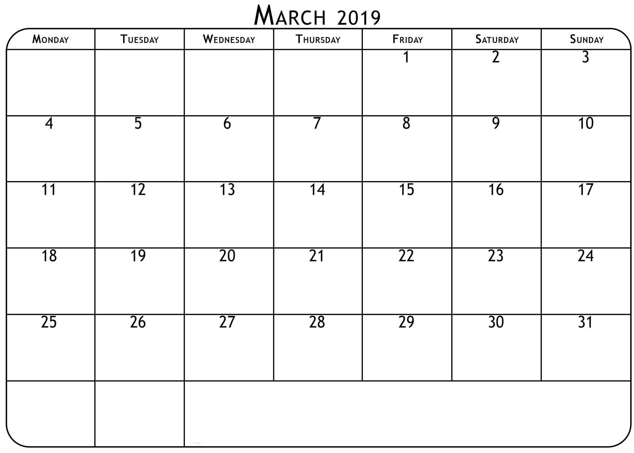March 2019 Waterproof Calendar | 2019 Calendars | Calendar 2019 Calendar 2019 Waterproof