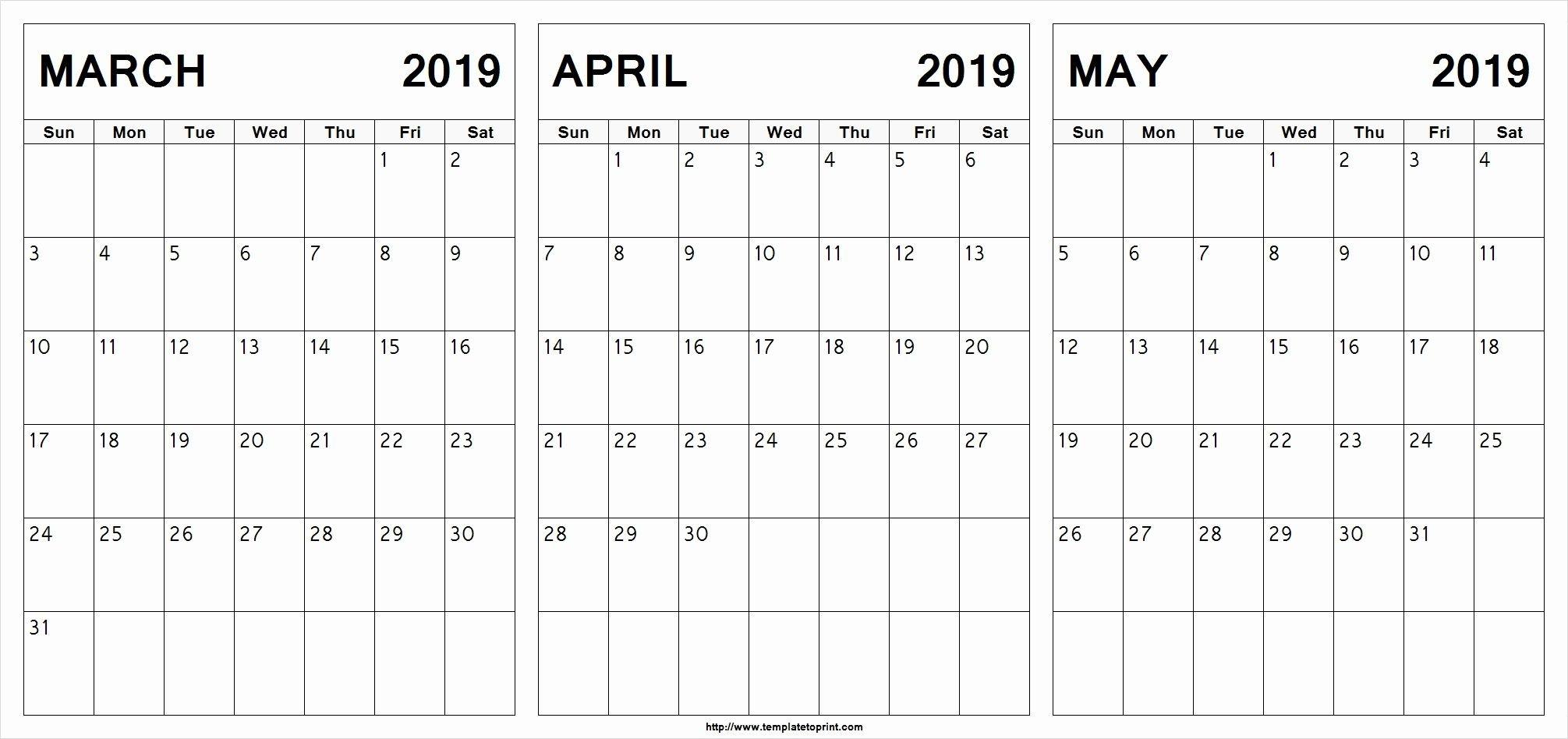 March April May 2019 Calendar Printable #march #april #may Calendar 2019 April May