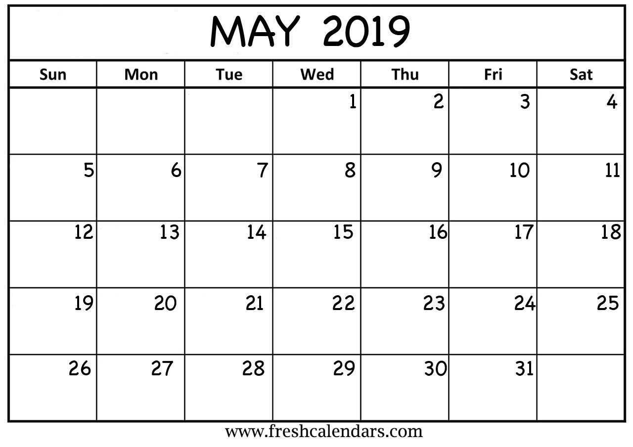 May 2019 Calendar Printable – Fresh Calendars May 4 2019 Calendar