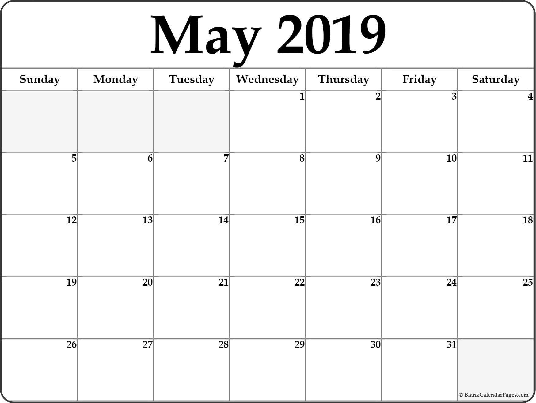 May 2019 Weekly Calendar Printable – Make A Week Wise Schedule For Weekly Calendar 2019 Xls