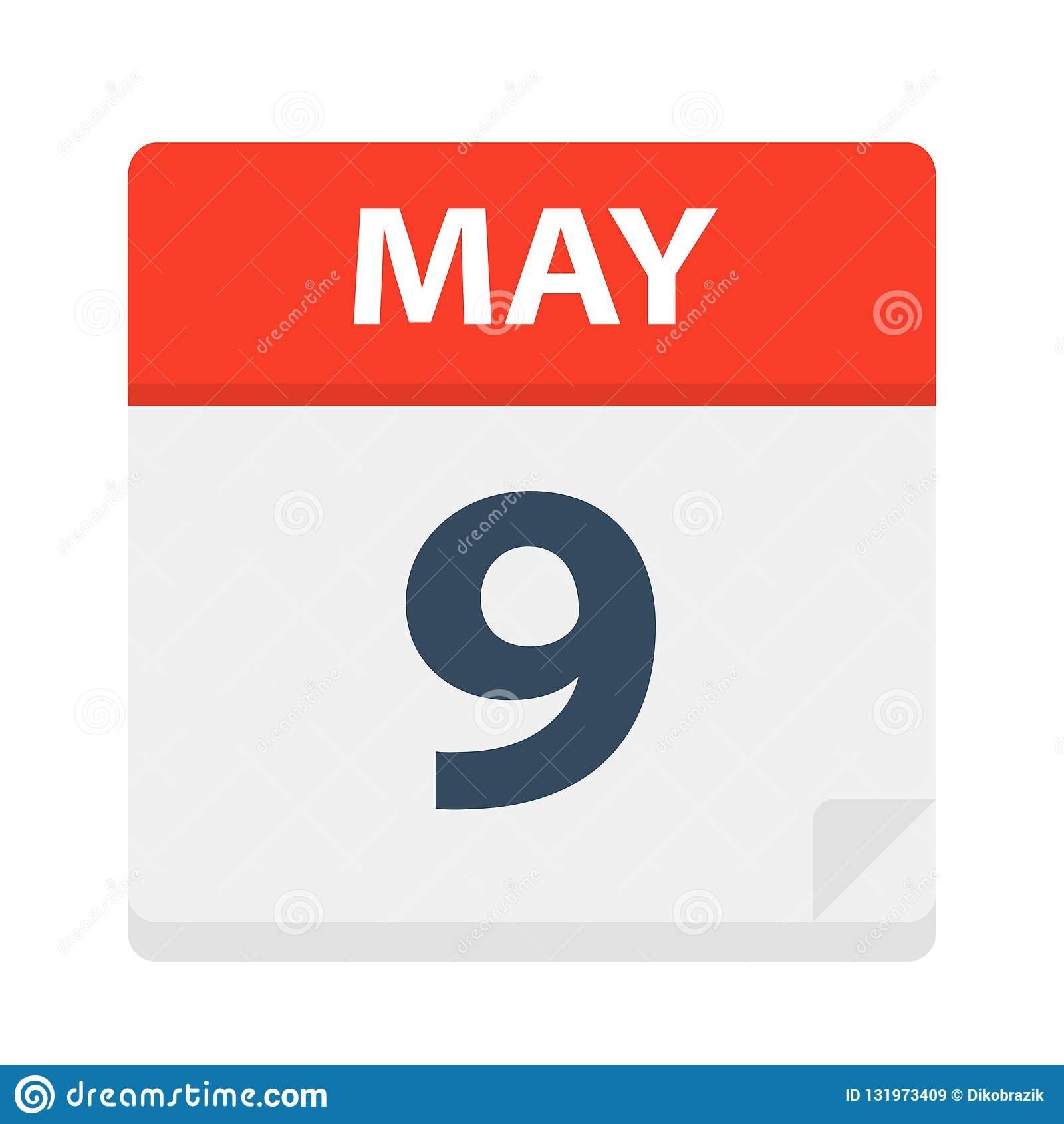 May 9 – Calendar Icon Stock Illustration. Illustration Of 2019 Calendar 9 2019