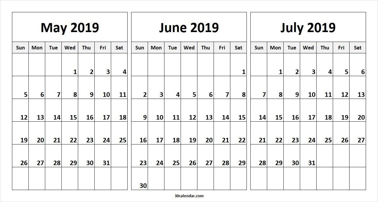 May June July 2019 Calendar Template | 2019 Calendars | 2019 Calendar 2019 June July