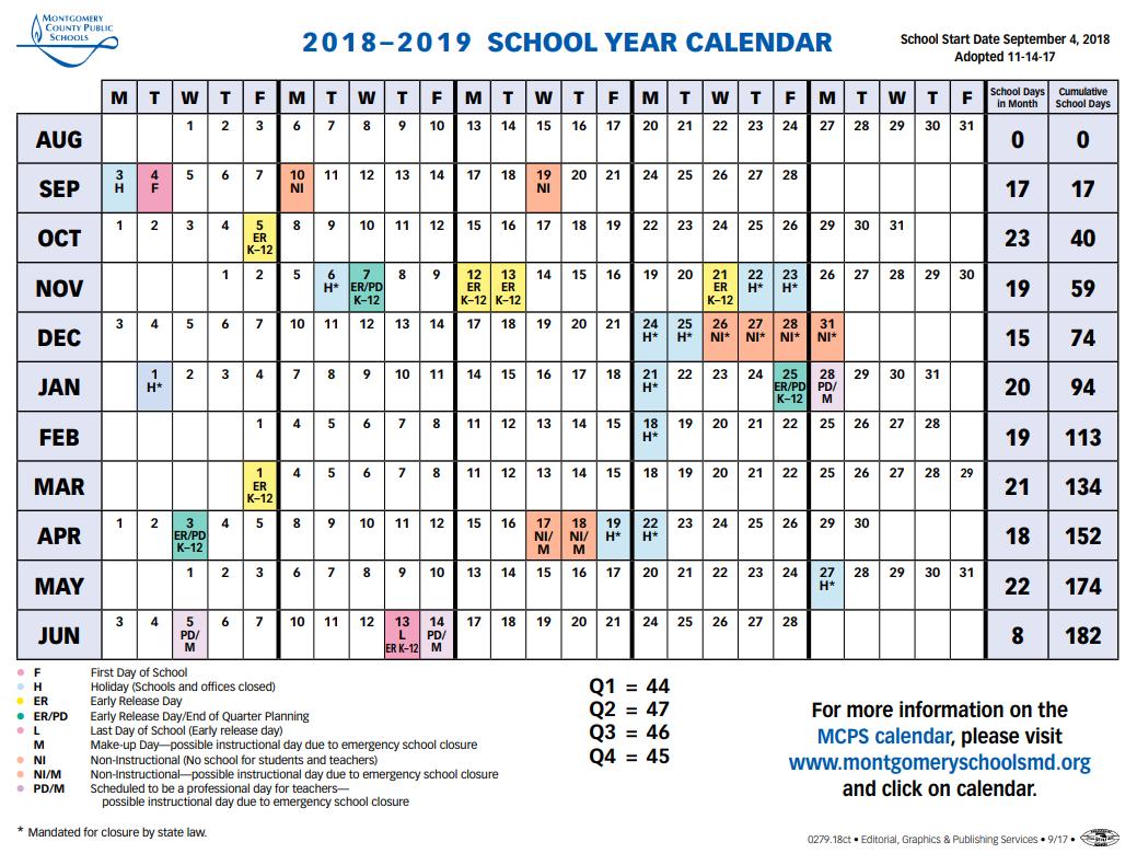Mcps Sets 2018 2019 Calendar, Shortens Spring Break – The Current K State Calendar 2019