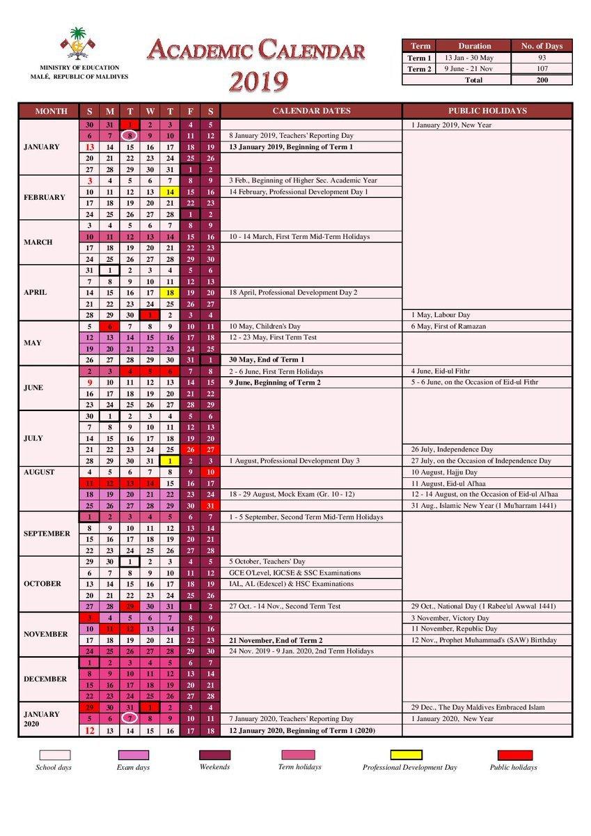 "Ministry Of Education On Twitter: ""academic Calendar 2019 Calendar 2019 Haiti"