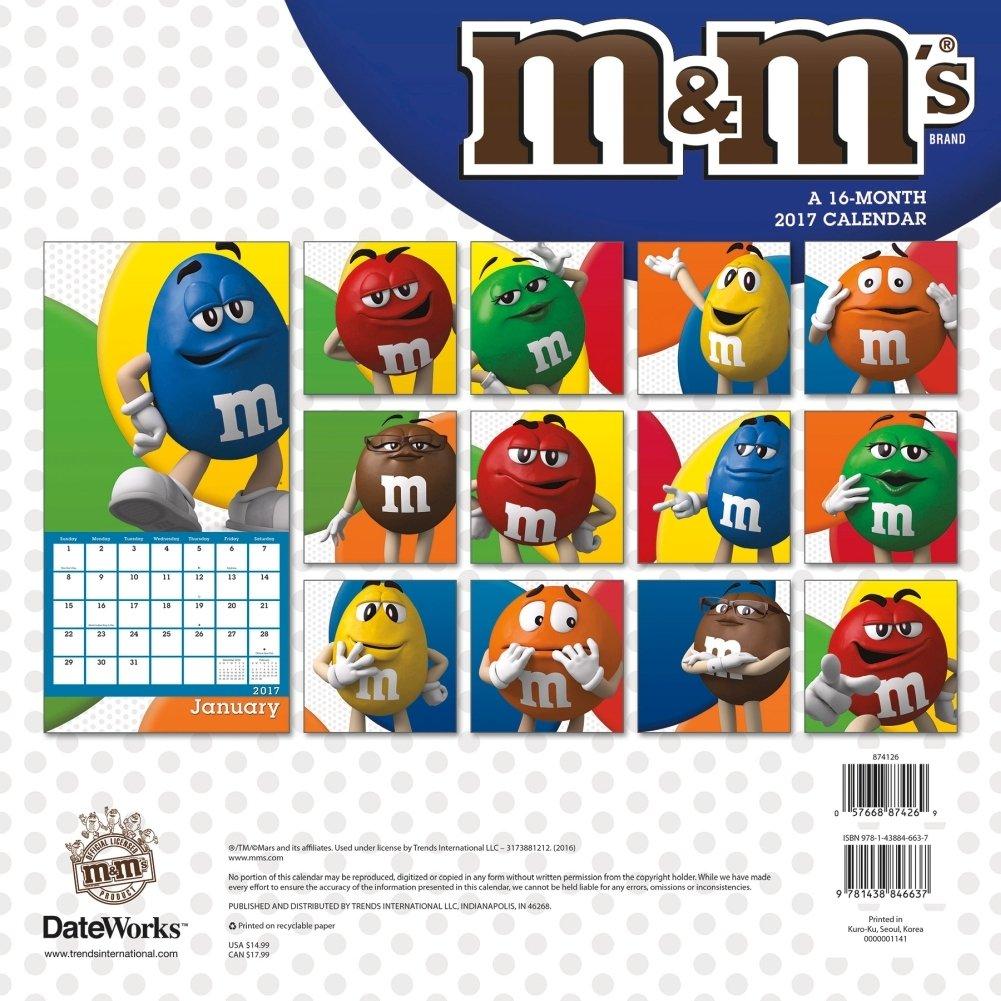 M&m's Wall Calendar - Walmart M&m Calendar 2019