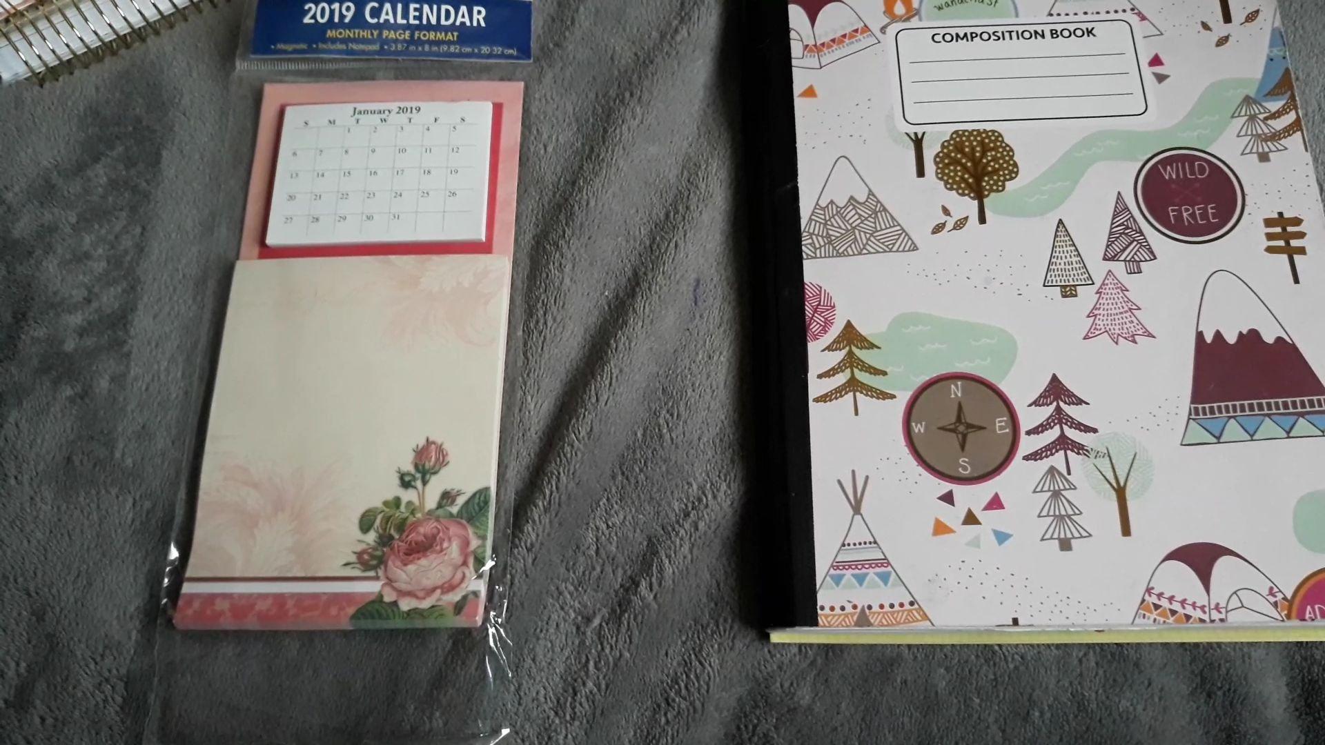 My 2019 Bujo Year At A Glance Using Dollar Tree Calendar Notepad Calendar 2019 Dollar Tree