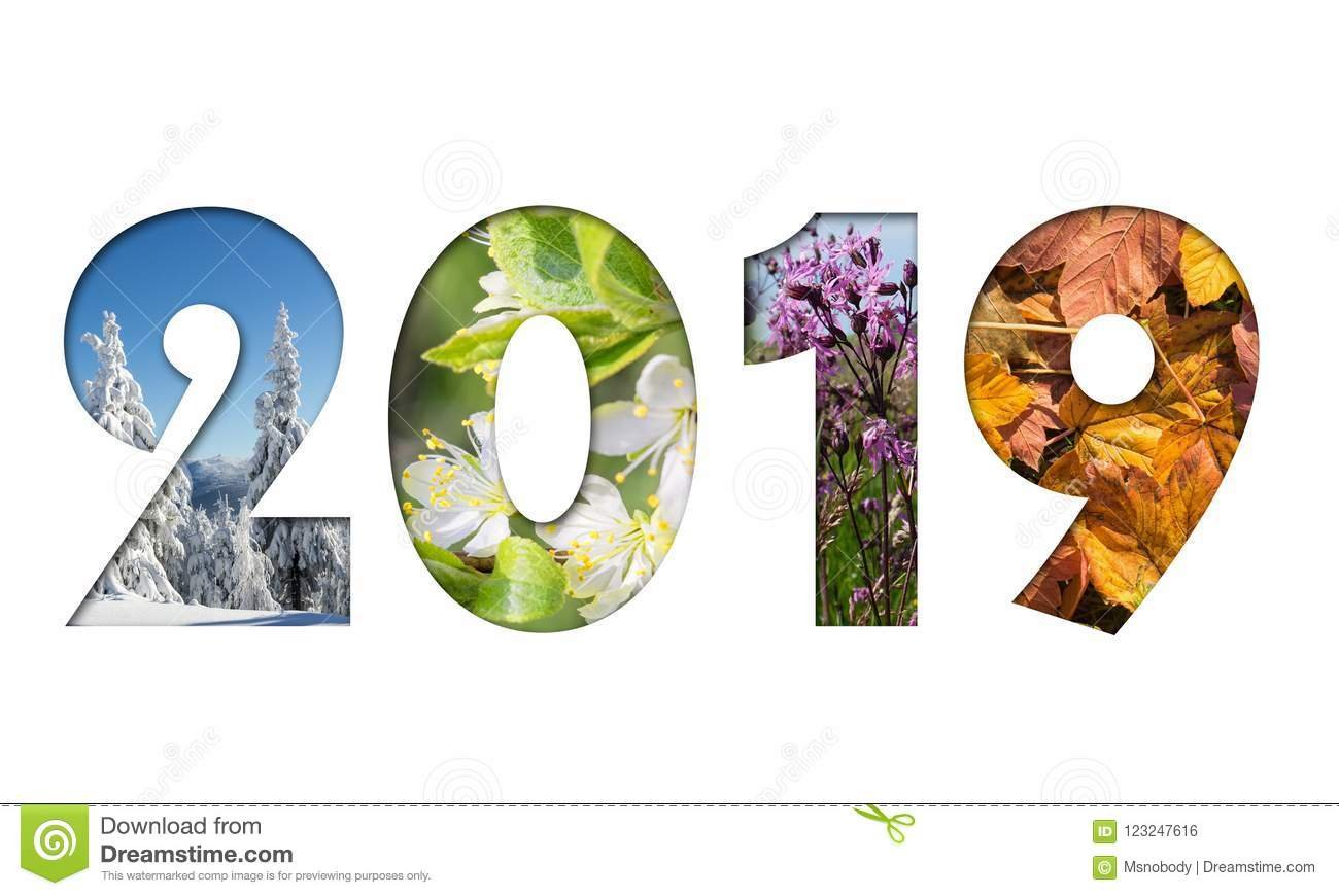Number 2019 From Four Seasons Photos Stock Photo – Image Of Date 4 Seasons Calendar 2019